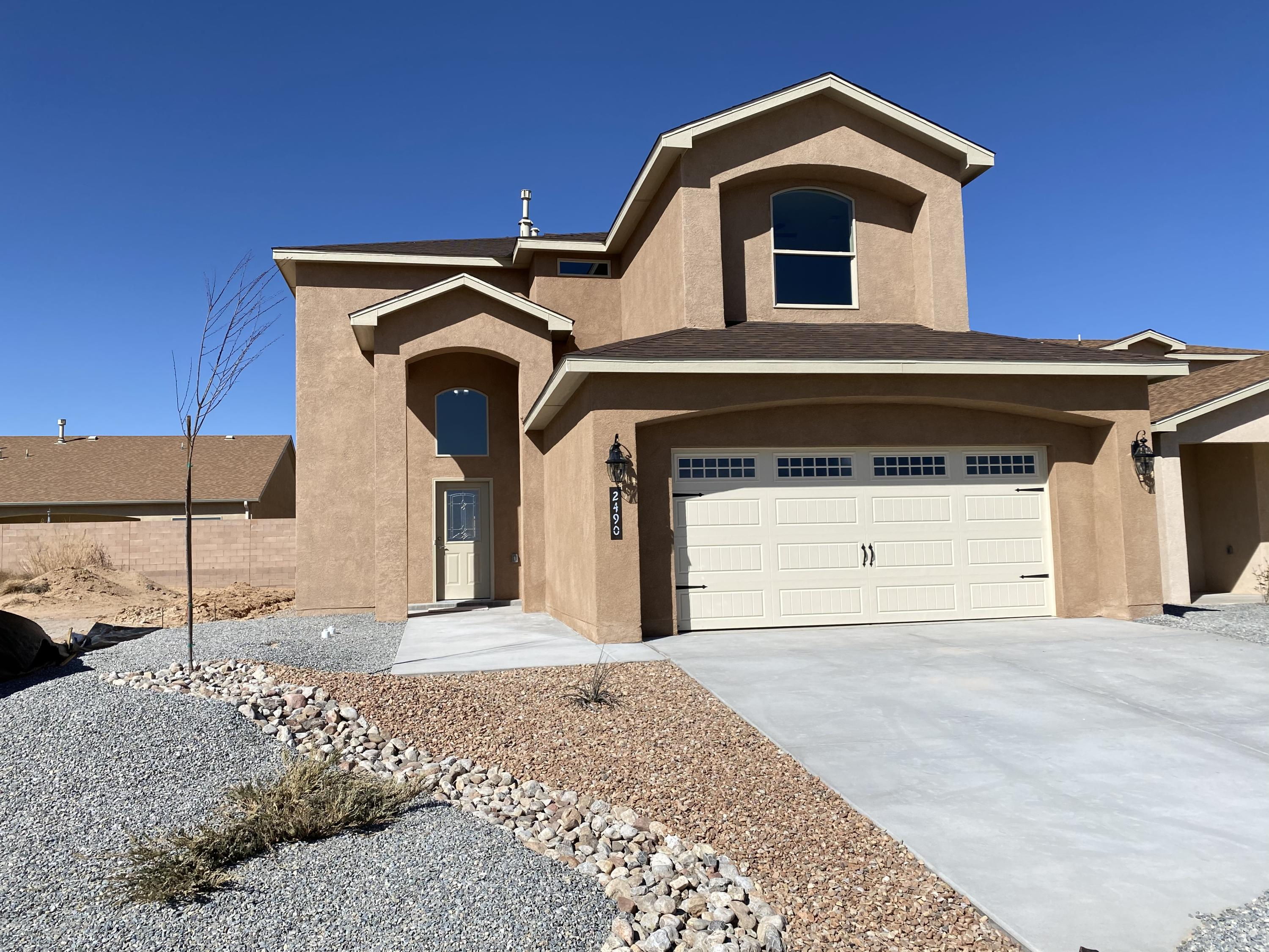 Welcome to this new home (Mojave floorplan) which features a open floor plan with beautiful ceramic tile, the elegant fireplace is a great focal point. Kitchen with custom cabinets and granite counters, and designed back splash. Bathrooms have designed tile work, master bath features double sinks, tub and shower, and many many more features to mention throughout. All of this in a Beautiful new community. This stunning home is built on a Guaranteed Post-Tension slab foundation. A must See!! We have many more to choose from also. Photos coming soon.