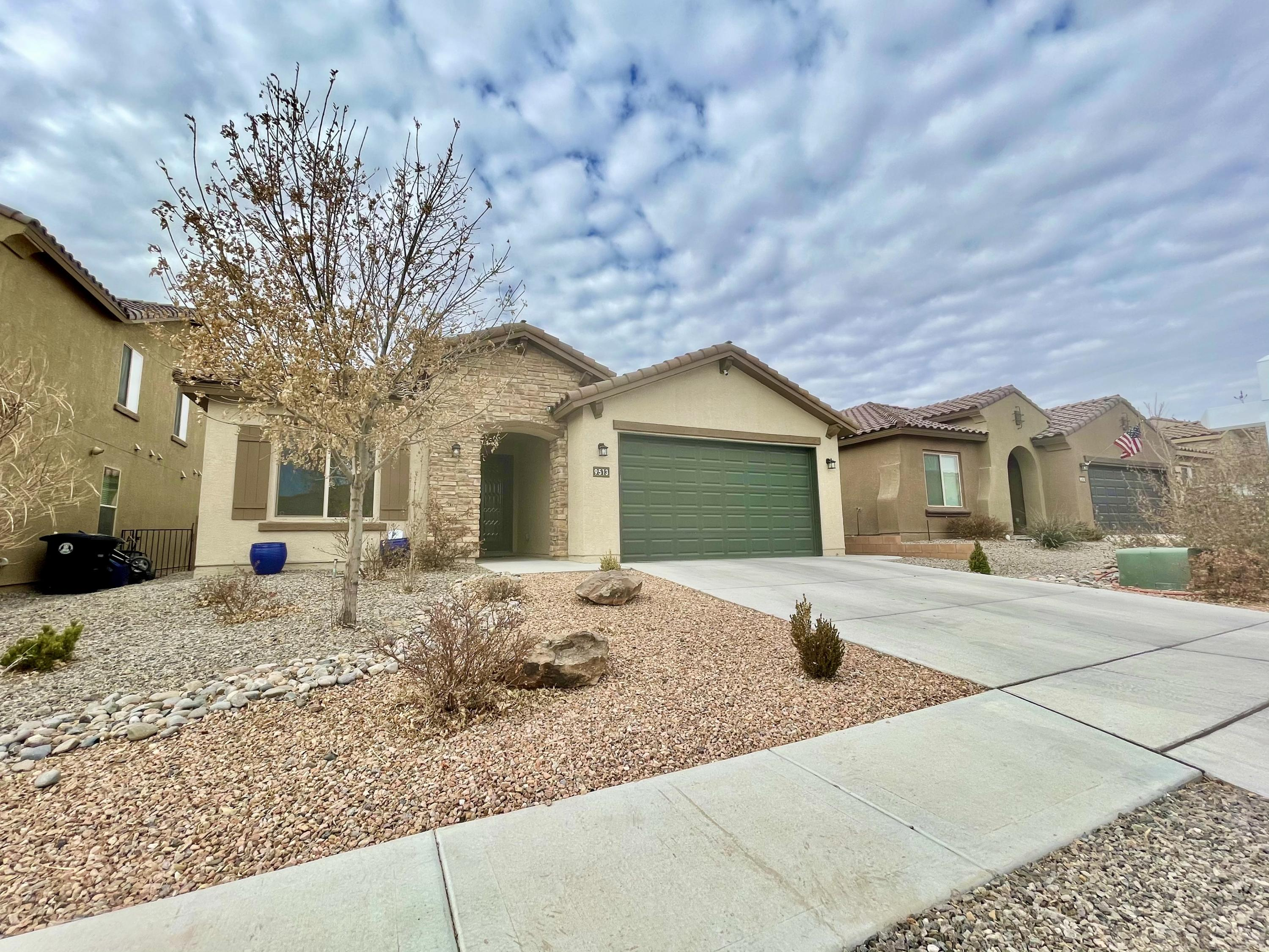 This is it! Very clean Pulte in the sought after Boulders subdivision.  Pride of ownership can be seen throughout. This one story, 3 bedroom 2 bath 3 car garage (tandem) home has several upgrades. 20 inch tiles, granite countertops, Maple cabinetry stainless steel range, microwave and dishwasher, gas log fireplace,  5 piece master bathroom and landscaped front and backyard.  The covered patio is perfect for outdoor dining and gatherings with friends and family. Kitchen opens up to living area and the 9 foot ceilings make the area feel even bigger! Pulte craftsmanship is apparent through every door of this beautiful home.  Make your appointment today!