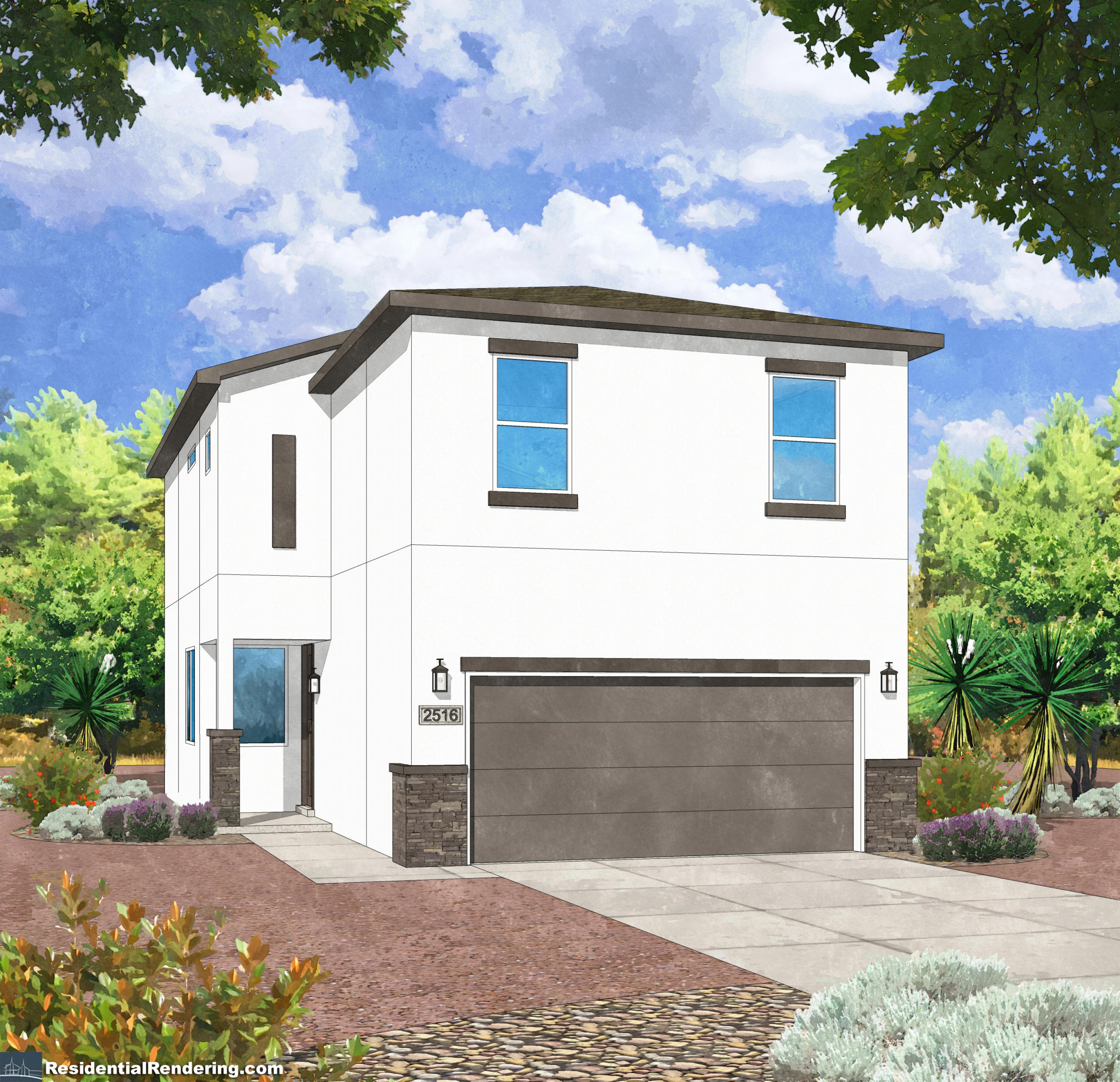 Welcome to Park View by Amreston Homes! A brand new Rio Rancho community in the Heart of North Hills! A bright and open kitchen features solid granite countertops, kitchen island, staggered maple cabinets with 3'' crown molding. GE slate colored appliances including a 30'' gas range, and energy star dishwasher. The bathrooms are outfitted with designer tile shower surrounds, granite vanities, and granite backsplash. Energy-efficient features include a tankless water heater, Carrier 14.0 SEER Refrigerated AC, Low E vinyl windows. Additional upgrades include owner suite walk-in closet, raised panel interior doors, satin nickel finish lighting package, Decora electrical switches. Front yard landscaping included!