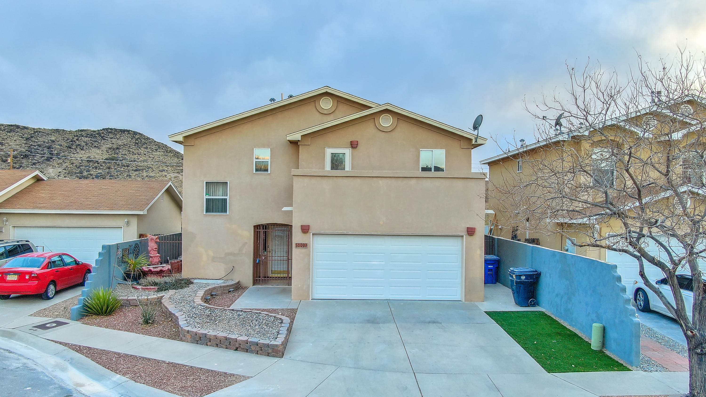 Welcome to 5009 Starfire Pl NW. In the highly desirable Taylor Ranch neighborhood this beautiful remodeled home features Stainless steel appliances, Granite counter tops, New Carpet, Fresh paint, New ceiling fans, Bathroom fixtures, and so much more. Enjoy the flex space upstairs next to the bedrooms where you can use for play area, remote learning, or home office. Balcony off the master bedroom will allow you to enjoy those beautiful New Mexico Sunrises. Call your trusted Realtor for a showing today.