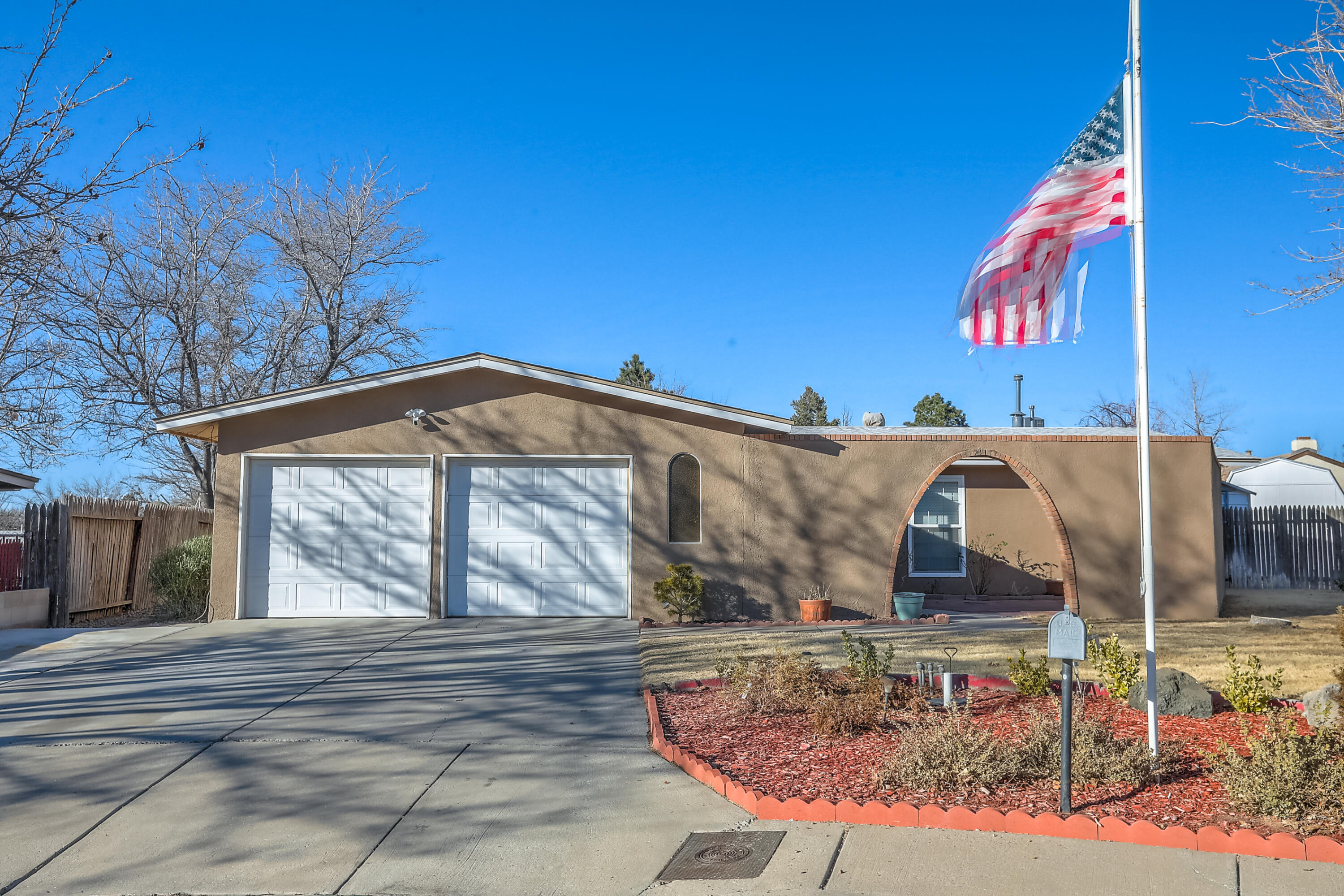 Gorgeous home in a well established neighborhood with grass in front and back.  Inviting courtyard with dazzling roses &  flowering shrubs, a gardeners dream. Beautifully remodeled bathrooms, recently updated kitchen with stainless steel appliances and a breakfast bar. Dining room ready for a coffee/wine bar with lots of extra cabinet space. Large screened in patio with tile accents. New roof in May of 2019, exterior freshly painted and new water heater. Oversized garage with floor safe and two storage sheds! All this plus Refrigerated Air. Close to shopping, schools and I25.  House in quiet cul-de-sac. Property being sold '' AS IS''.   Seller will not pay NMGRT.