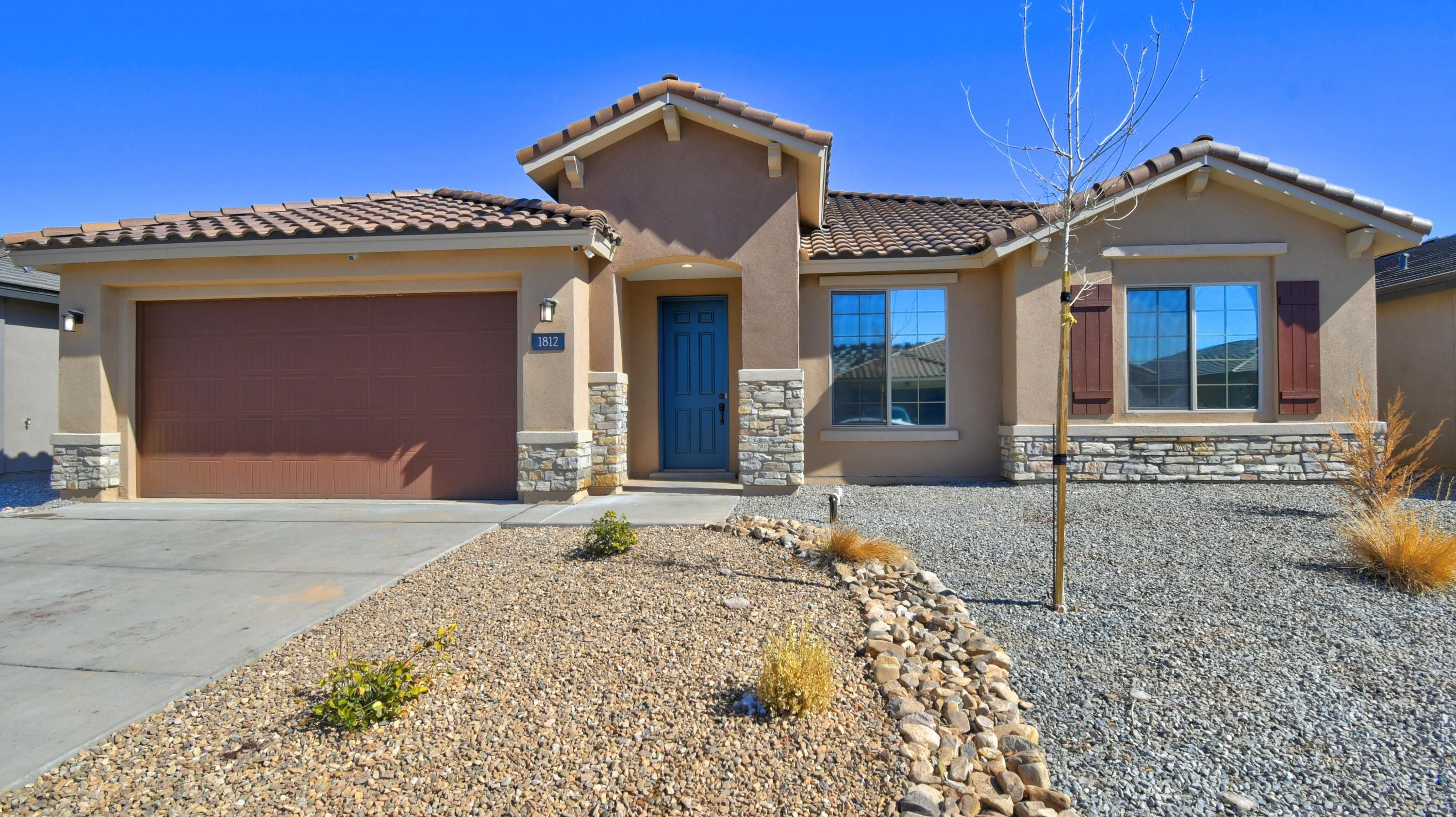 Stunning single level Pulte home in the desirable Volterra community less than a year old with upgrades galore!  The curb appeal of this home greets you immediately and you know you're walking into pure luxury in a functional floor plan!  This home has space for everyone with so many extra spaces including a study/den, the Pulte planning center office area, and a flex space between the spare bedrooms that can be used for so many things!  The cool gray tones in this home give you that modern feel and Quartz counters, chef's kitchen, tray ceiling, and gorgeous ceramic tile complete this home to make it the whole package.  This is a MUST SEE!