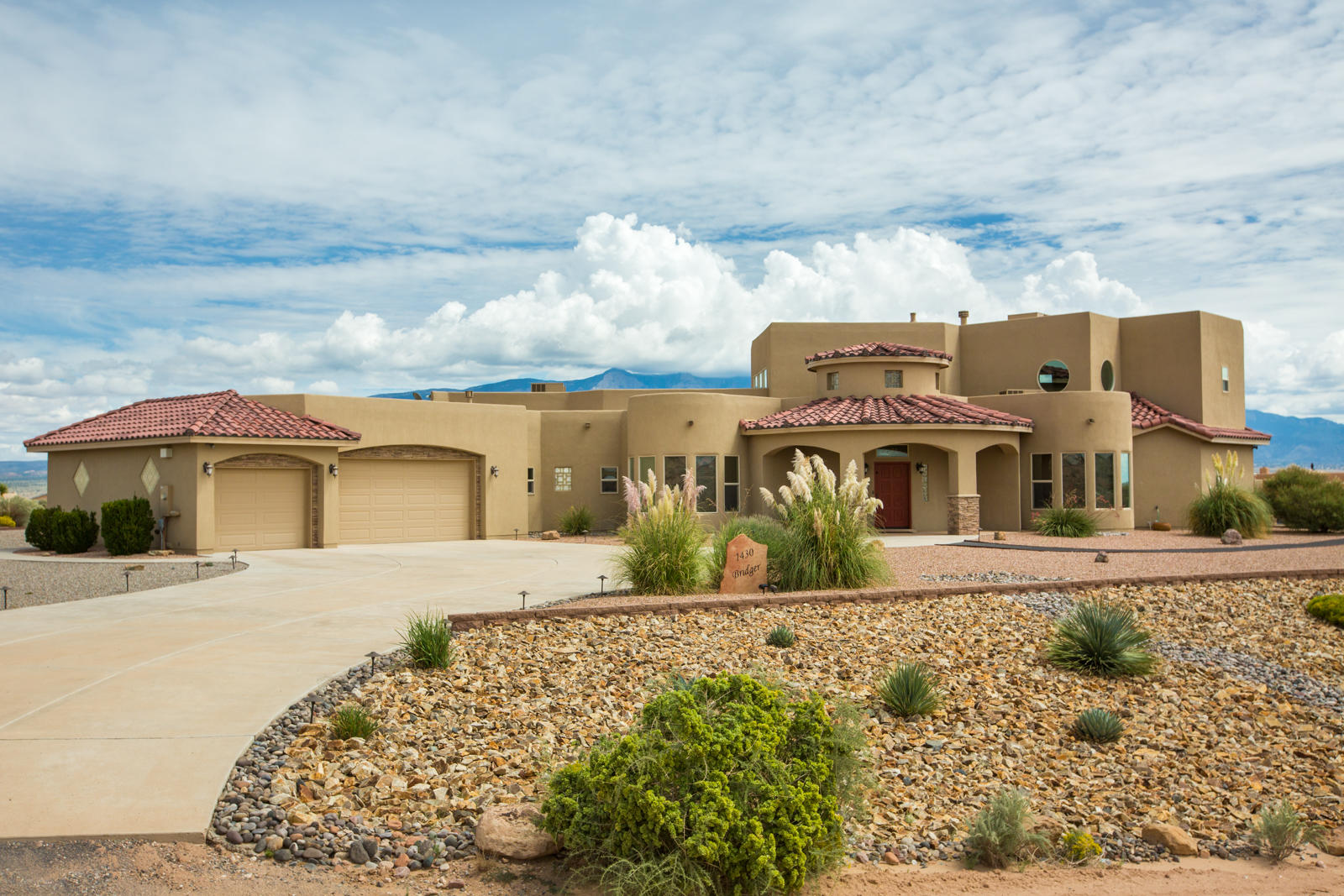 Don't miss this beautiful custom home in Rio Rancho Estates. Incredible, unobstructed views of the mountains, city lights, & surrounding areas. This functional, open concept floor plan is light & bright~ so many windows! Large main living area w/ custom gas fireplace. Gourmet kitchen bodes stainless appliances, granite counters, custom tile backsplash, two sinks, island, walk-in pantry, & plenty of seating. Perfect for entertaining! Main level master is huge, offers backyard access (straight out to the hot tub!), walk-in closet, large master bath w/ his & hers vanities, jetted tub, & large walk in shower. Nicely sized secondary bedrooms. Large loft w/ balcony & 3/4 bath. Huge covered patio w/ fireplace for year round outdoor living. Beautifully landscaped, front & back. And, so much more!