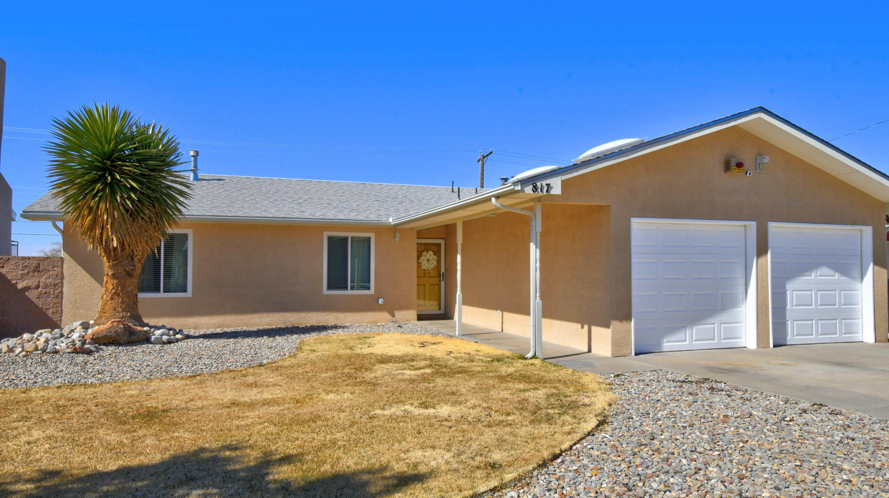 Located in the desirable Marie Park this 3-bedroom, 2 bath, 2 car garage has an open floor plan with a large living room, fireplace and a double door that opens into the large back yard. The master suite is very generous with lots of space with separate sink, shower and built-in linin closet.  The home has been upgraded with refrigerated air, heater, thermal windows, stainless steel appliances, garbage disposal, water heater, stuck, recess lighting in kitchen & laundry, ceiling fans in all bedrooms, doorknob hardware, shatter proof storm door, side gate and mailbox. The seller is having a licensed roofer install a NEW ROOF with transferable warranty.  The seller also has the driveway expanded with concrete, so this added more parking for vehicles, RV'S or whatever your heart desires.