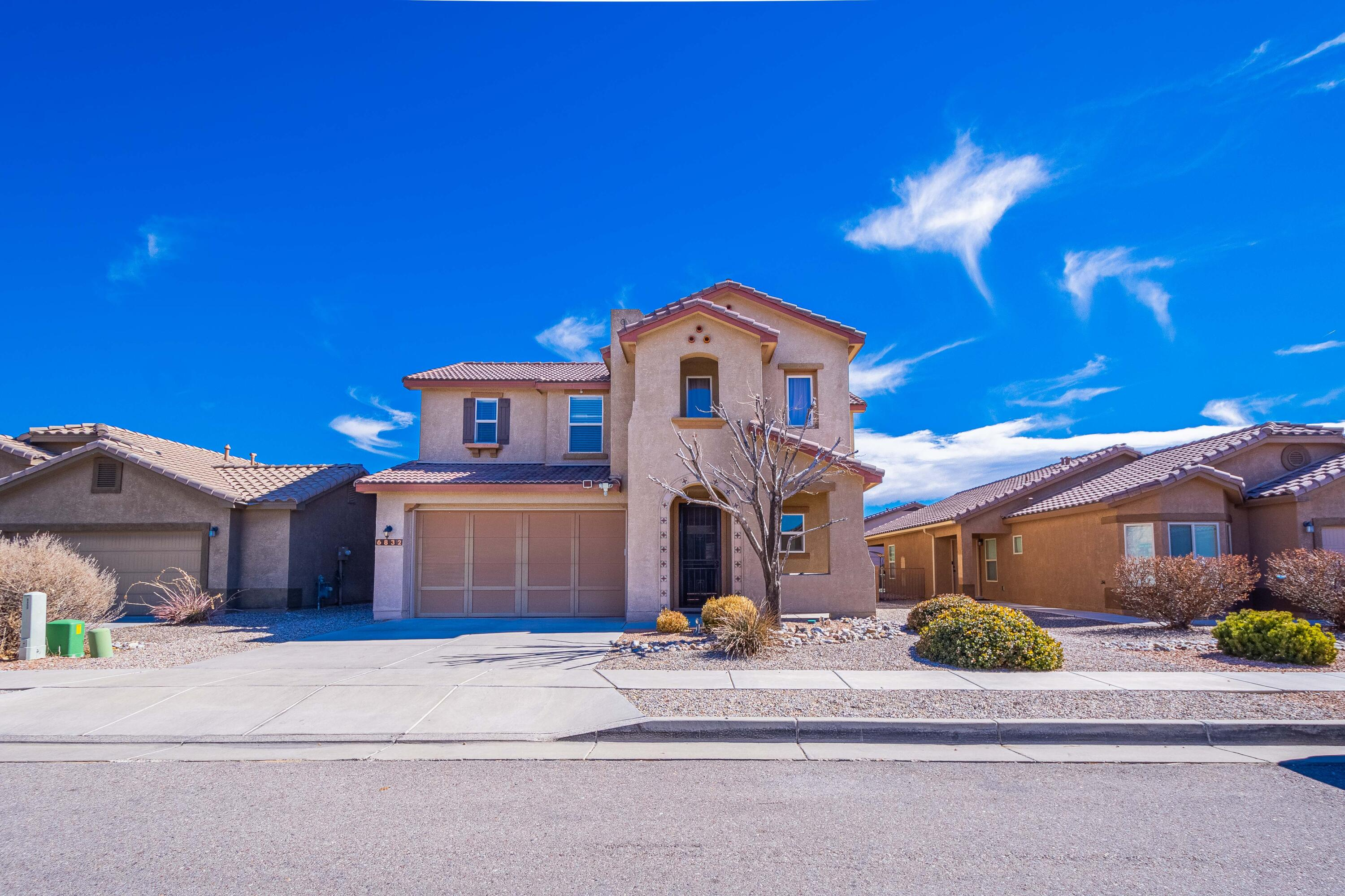 Check out this beautiful 4 bedroom home with walk in closets.  An office/study/workout room  . Upgraded kitchen with  huge granite Island and spacious open floor plan with lots of natural lighting throughout home. 2 living areas. Refrigerated Air (2 units). 3 car garage!  Great back yard and side yard! Community pool, clubhouse, parks and trails. So much to see!