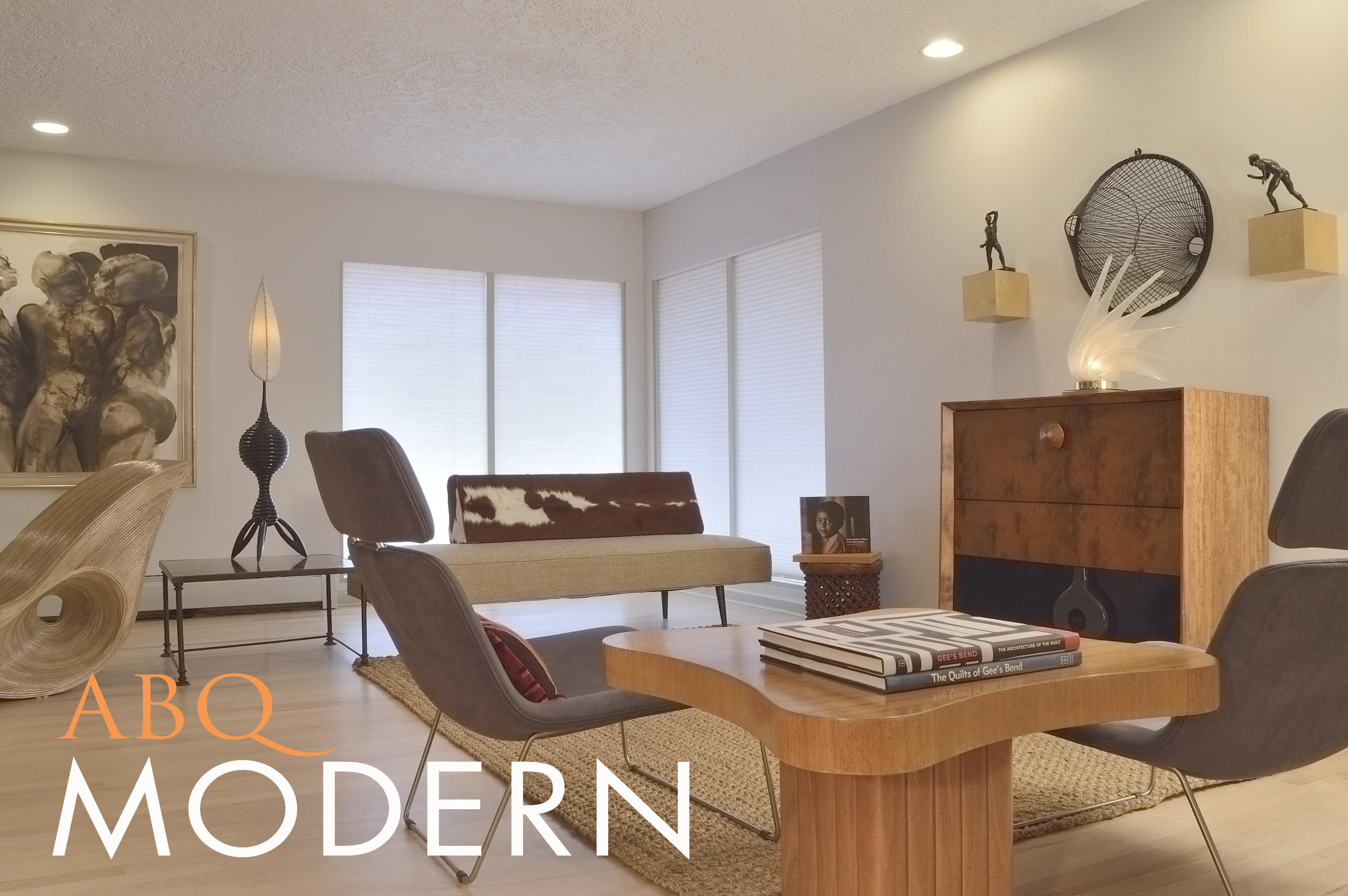 MID-CENTURY MODERN GEM! This one-of-a-kind Ashcraft Builders home has it all! The 1 story, 2 car garage, 2,131 sq. ft. home sits on a wide lot on a quiet tree-lined street. Close to EVERYTHING! Enjoy the best shopping and restaurants or take an easy stroll to Jerry Cline Park.The restored mid-century modern interior features open plan living at its best! Plenty of space, high ceilings, vintage fireplace hearth, maple hardwood floors and lots of natural light. A gallery leads to 2 ample bedrooms, large closets, and a beautifully appointed bathroom. The bedroom suite features a large walk-in closet and an amazing bathroom!The huge backyard, mature blooming trees and built-in barbecue station await your al fresco entertaining. Much more to see! ALARM PRESENT.