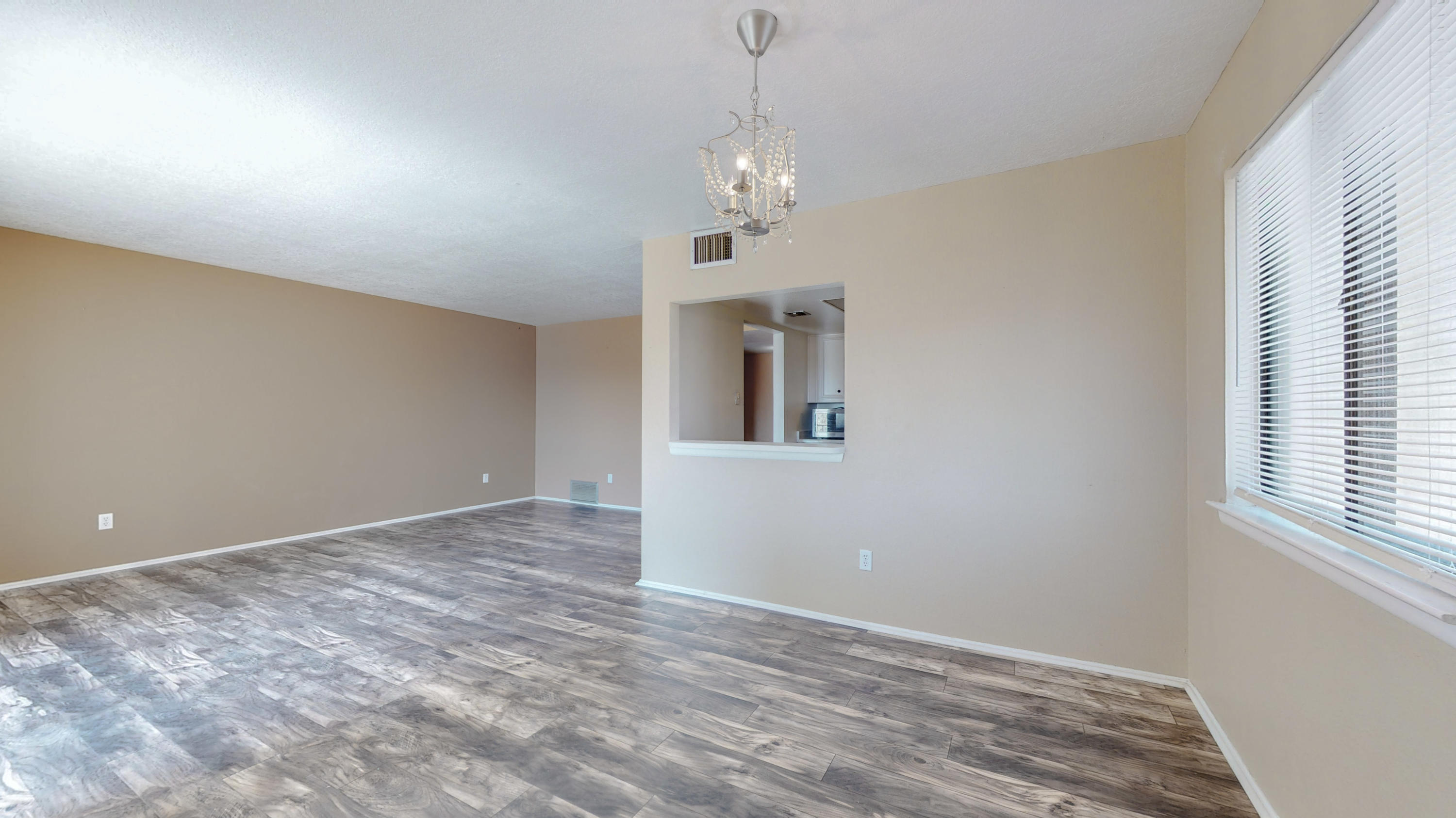 Move in ready condo in the heart of Rio Rancho! This open and bright 1 bedroom unit sits on the second floor in the Fairways condominiums. You will enjoy your refrigerated air and balcony space in the summers as well as lounging by the condo pool. This unit has updated flooring throughout, and all appliances convey including a newer washer and dryer combo unit.