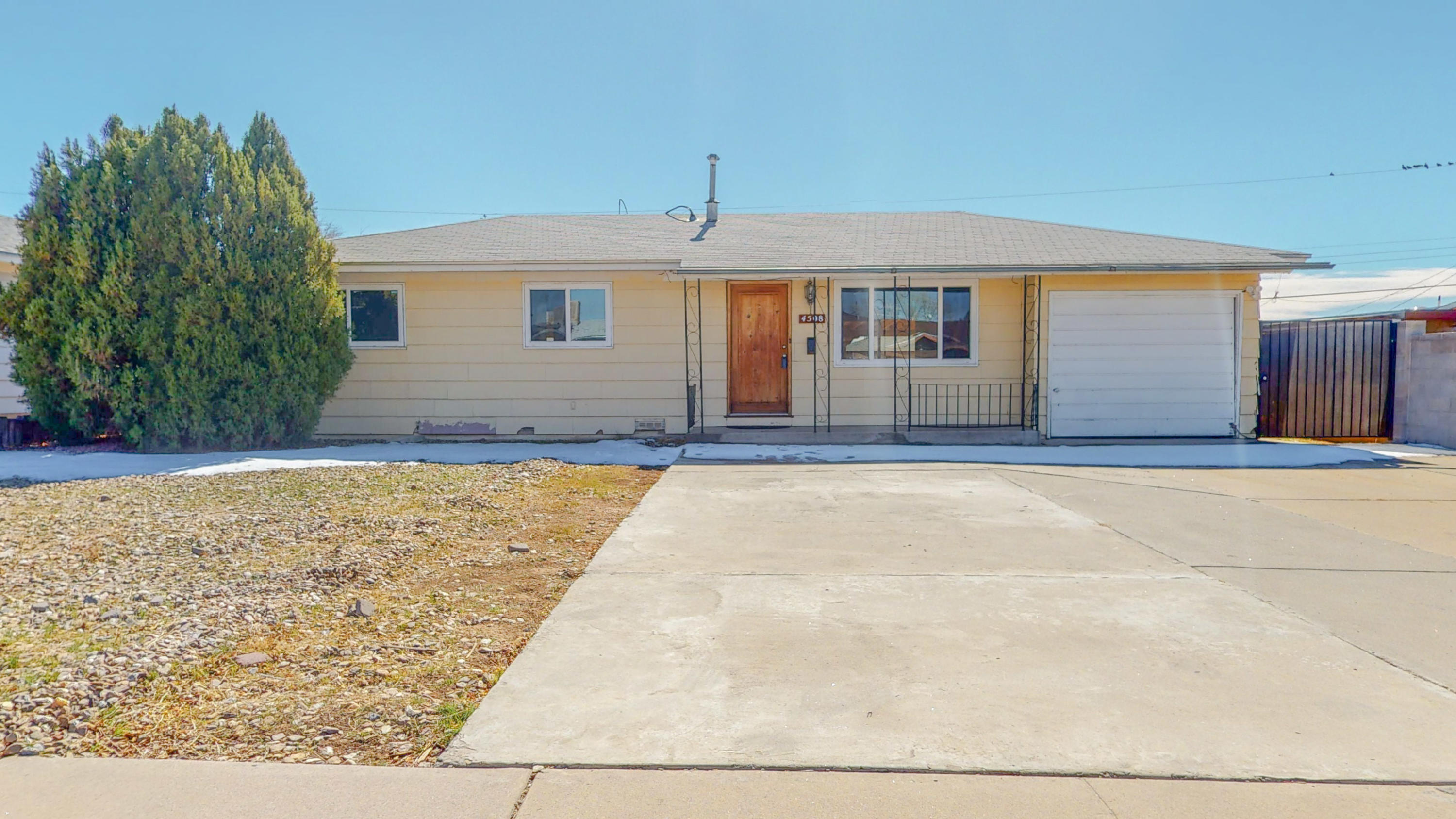 You must see this wonderful 1959 Mid-Century 4bd home in a stellar location!! Just freshened up with new paint, updated bathrooms and kitchen. Large front yard with plenty of parking space followed by a generous patio space and paths to several romantic seating areas that are private and serene. This is a must see!!