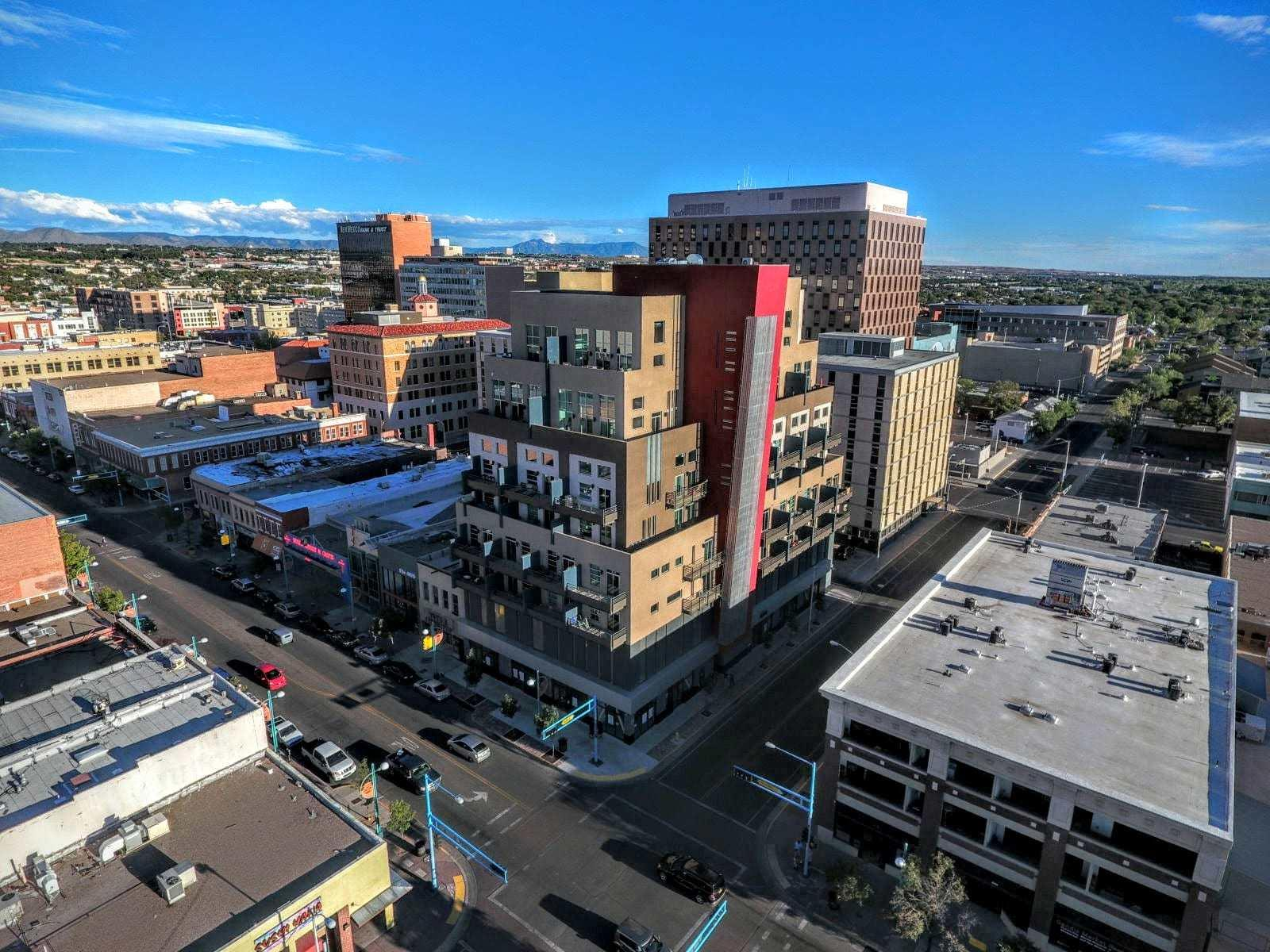 Get back to life downtown ABQ!  Beautifully appointed downtown Anasazi loft features modern finishes and a private balcony. This one bedroom unit is flooded with beautiful natural light any artist would love.  The city life views, sunsets, Bosque views are outstanding!  Walk/Bike score is great!  Tile floors throughout, quartz countertops, stainless appliances, stackable washer/dryer.  Off street secured parking garage to include 1 car space   Shown by appointment only Monday - Friday 9:00 - 5:15.