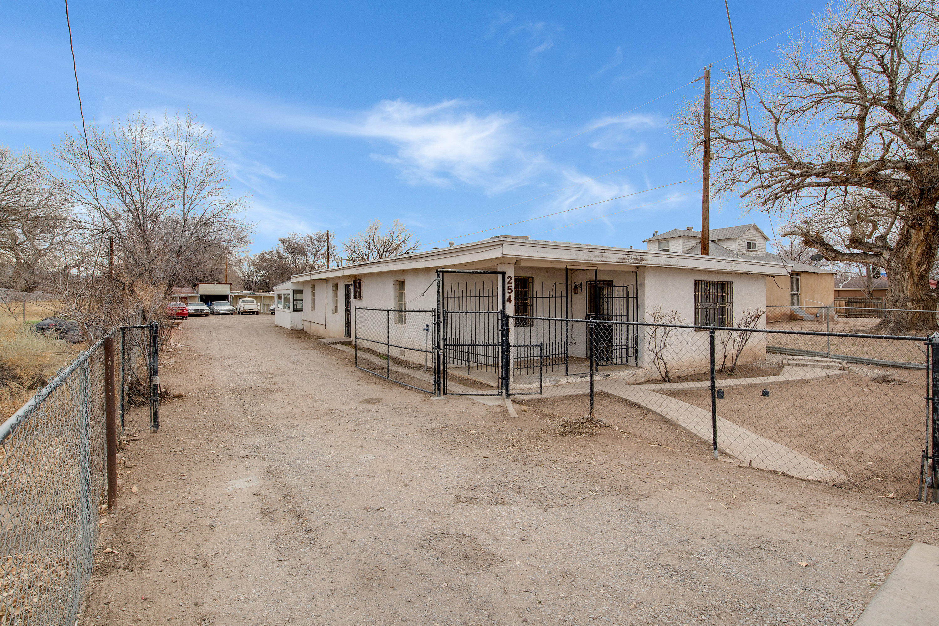 3 bed 2 bath house located in SW ABQ. utilities on / livable, This home needs work and is priced accordingly, Ideal for flippers, Investors, or first time homebuyers, Lots of potential,  nice sized lot with plenty of storage and parking. This home is being sols As Is - Seller will not make any repairs, buyer to pay for any/all inspections & appraisal if required. buyers to verify Sqft.
