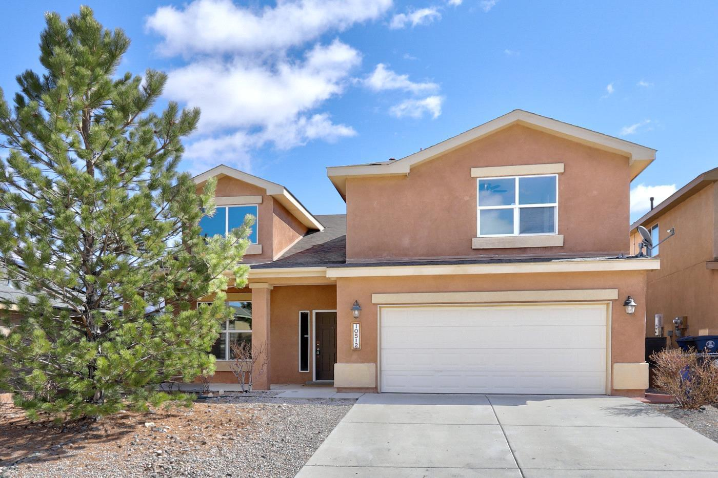 Come and take a look at this beautiful home located in Ventana Ranch.  Upgrades include vaulted ceilings, double staircase and a large backyard! Master bedroom includes a large bathroom with double vanities, walk in closets and a beautiful deck. All bedrooms are spacious and all have walk in closets. The upstairs loft would make the perfect space for a home office or classroom. 2 separate living areas and a ton of natural light.