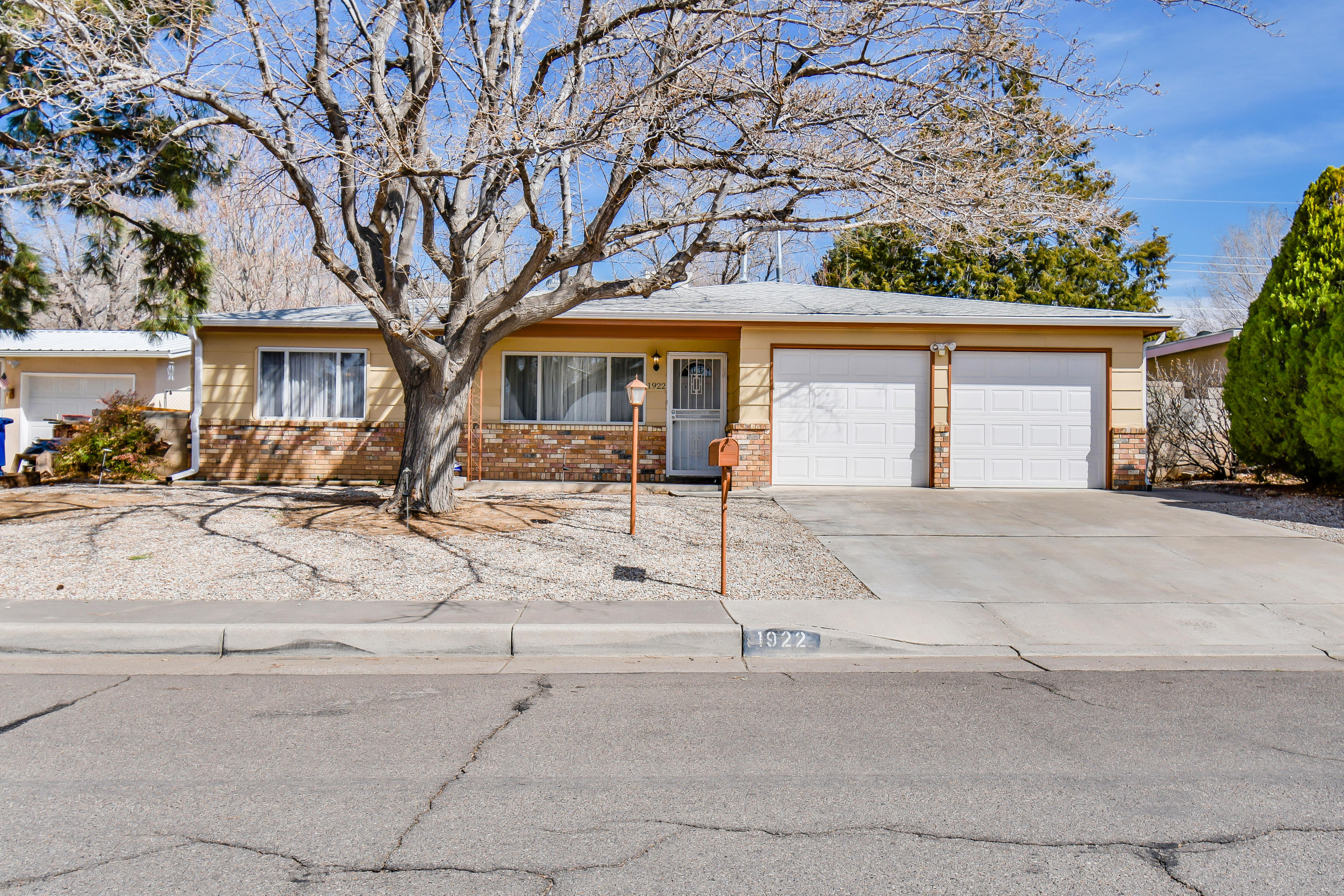 Renovated in 2013!~Wonderful 3 Bedroom Floorplan~Beautiful Open Kitchen~Custom Wood Burning Fireplace~Covered Patio~New Electrical Panel 2013~New Tile & Carpet~Updated Bathrooms~2 Car Garage~Quiet Cul-de-Sac~Newer Hot water Heater & Furnace~Newer Windows~ AC 2019, Water heater 2018, Roof 2018, Garage Doors 2018, Brick Pavers 2020 ~Convenient location and amenities.
