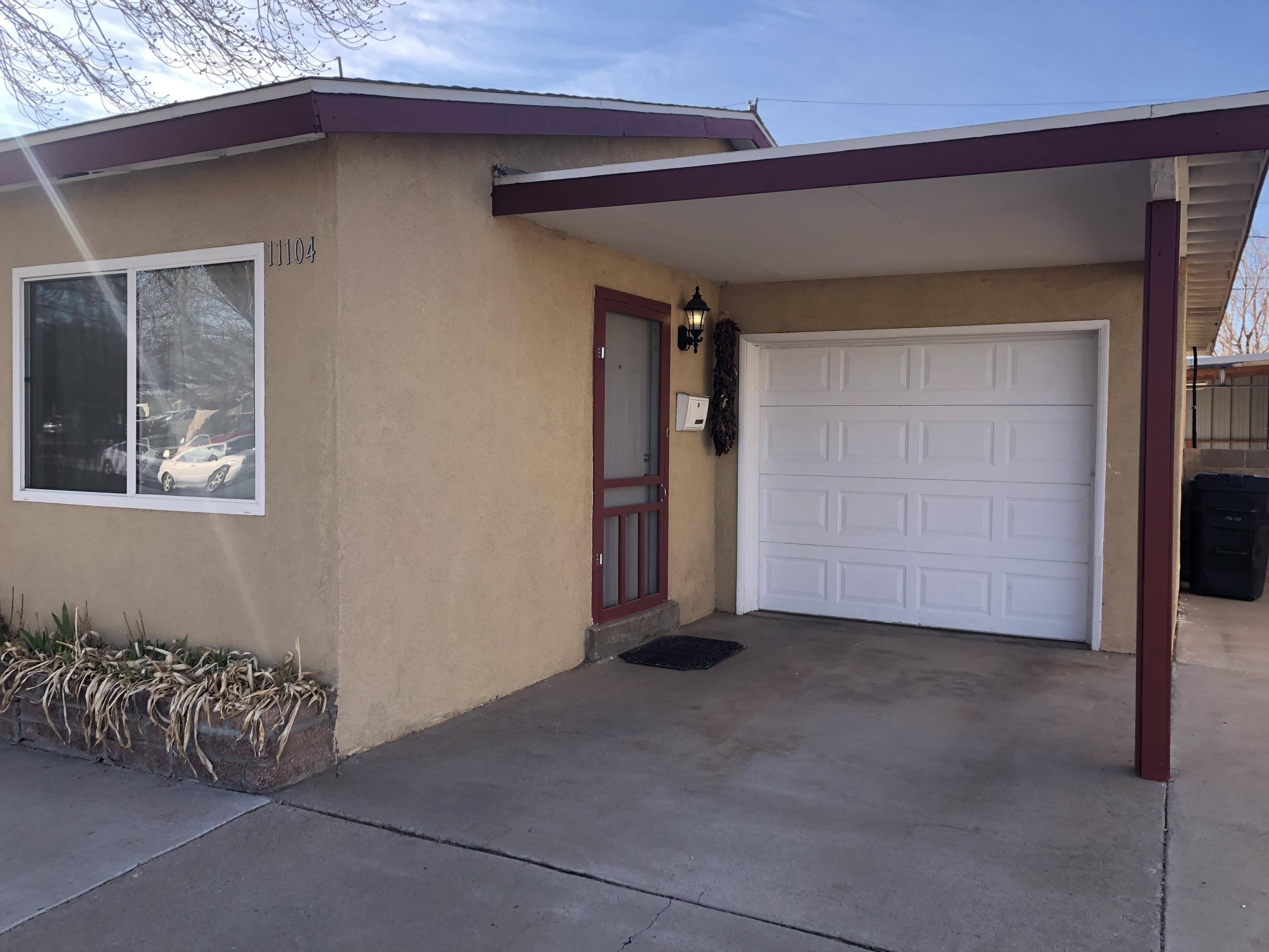 Great home ready for a new owner.  All clean and ready to go with Refrigerated Air, updated windows, floors, kitchen with concert counter tops, great gas stovetop and separate oven, updated bathroom, recessed lighting,  Property boasts large backyard with great covered patio with electricity and large storage shed that stays with the home.  Come take a look today will not last long.