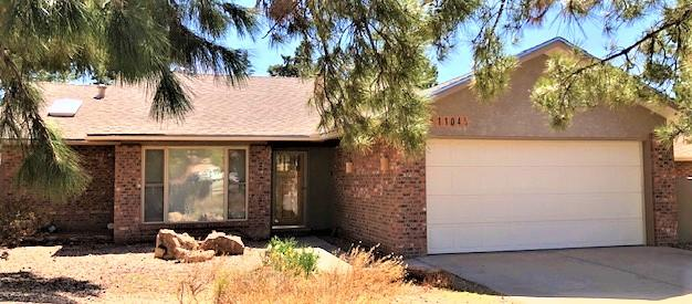 Nestled at the end of a clu-de-sac is where this lovely, well kept home can be found. This three bedroom, two bath home has a master an suite, with a12x13 sitting room, walk-in closets, kiva fireplace with gas logs and master bedroom fireplace with vent blower and and a private entrance. The bright, 200 sq. ft. sunroom office, with built-ins for storage, leads to a large, backyard patio, Xeriscape fenced backyard with storage shed.  Well maintained this  home has an upgraded Master Cool evaporative cooling system, central forced air, Trane Heating unit and synthetic stucco.