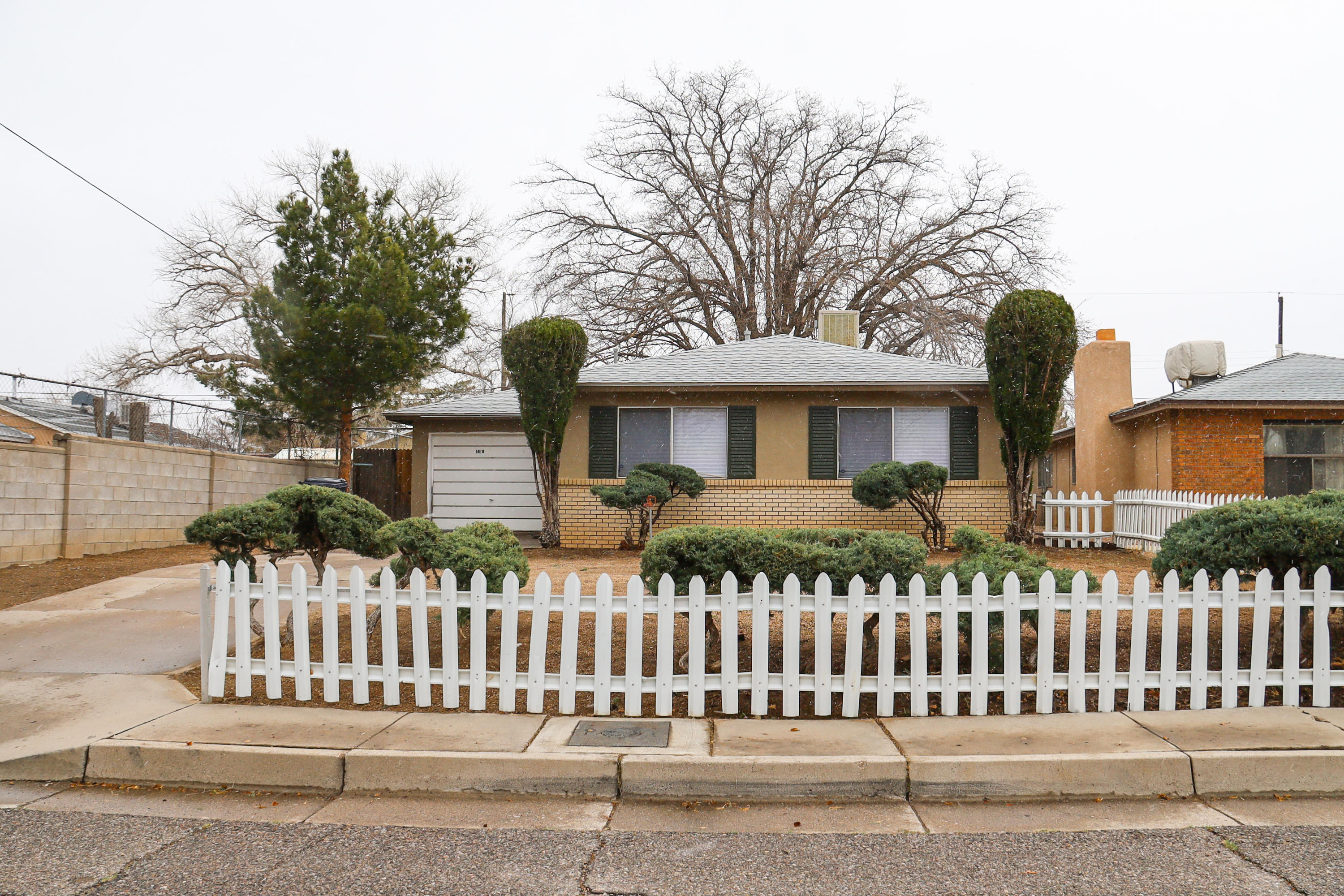 Great location!  Good sized LR and bedrooms.  Note shower off of 2nd BR (very convenient).  Spacious backyard with mature shade tree.  Freshly painted inside and out. New roof with transferable warranty.  Appliances transfer in ''as is'' condition.