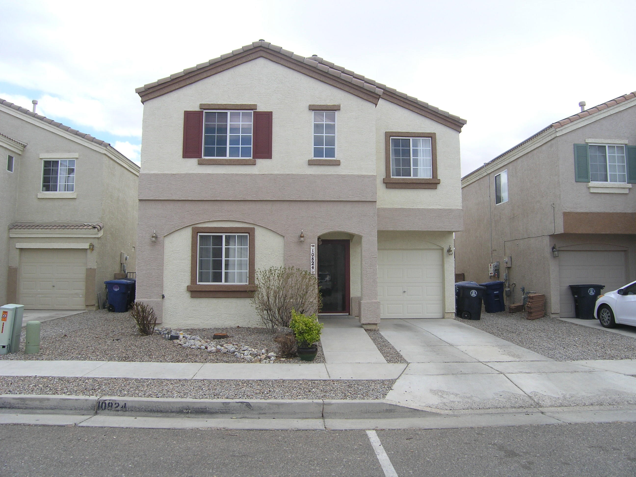 Your buyers will love this light and bright move in ready home located within minutes of Kirtland AFB, Sandia Labs, Costco, Manzano Mesa Elementary, and Manzano Mesa Mulitgenerational Center. Enter and you are greeted by plenty of sunlight and gleaming bamboo floors. Walkthrough the large downstairs living area to view the new appliances in the kitchen.  There is a bedroom downstairs that would also work well as a home office. Uptstairs features new carpet and an oversized loft/second living area with three additional bedrooms. The master has views of the park that adjoins the back of the home and provides additional privacy. The high end washer and dryer located upstairs convey with the property. The backyard is spacious with a metal covered patio area. The home has refrigerated air