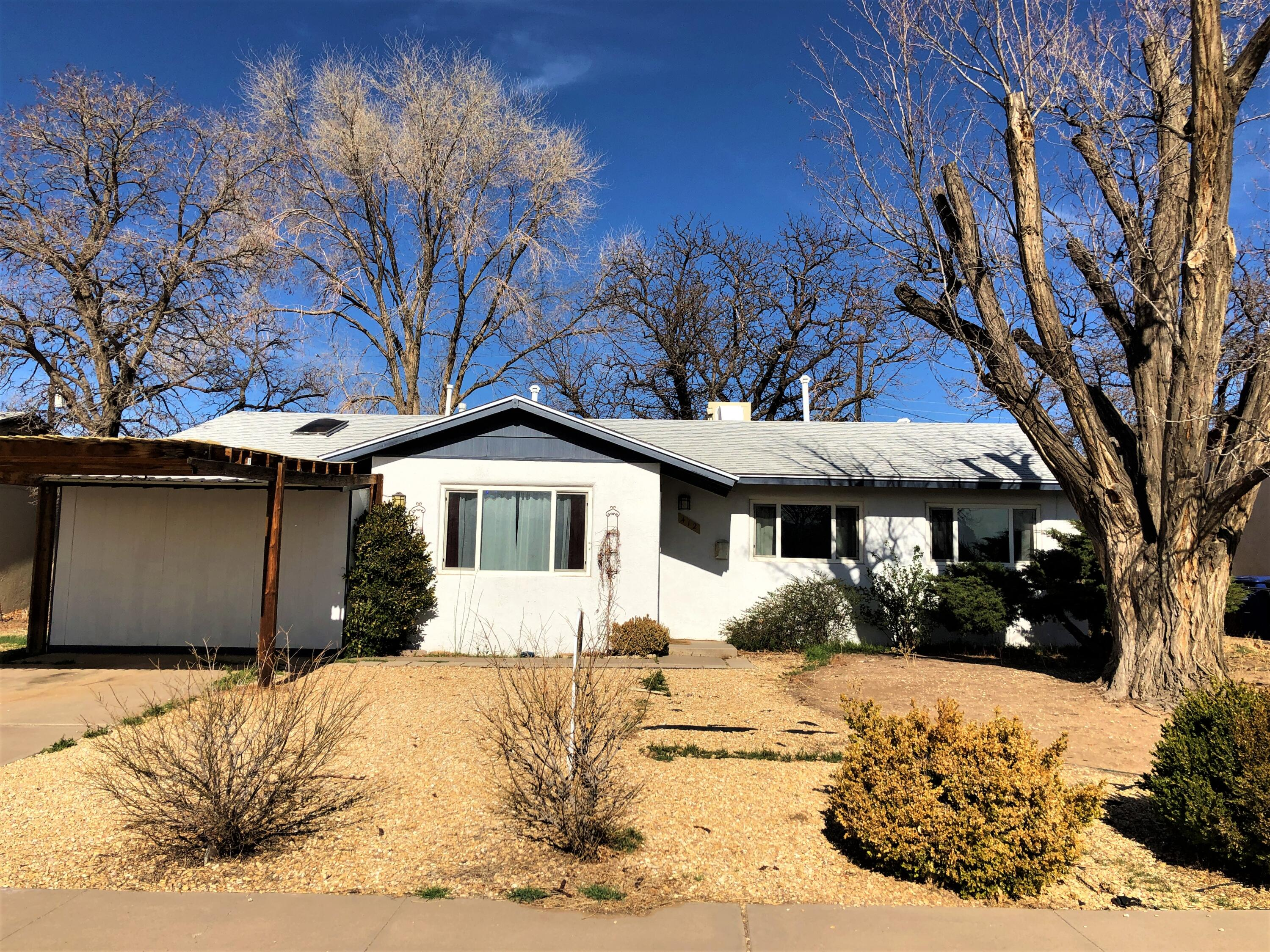Charming Three bedroom, Full Bath plus a Half Bath.  Updated bathroom and kitchen. All appliances stay.  Garage has been converted to expand the living area. With an extra large storage closet.  Huge backyard.  A great place to call Home!