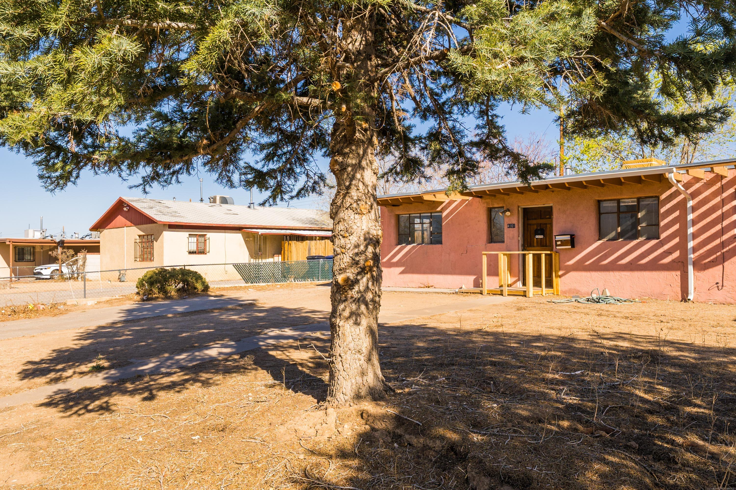 Great opportunity in Albuquerque!  Located in a nice, central location this home features 3 bedrooms and 1.5 bathrooms.  Large living room opens to the eat-in kitchen.  Big backyard with storage shed.  Cooler was replaced just over a year ago.  There aren't many homes priced in this range, don't miss your chance!  A little TLC will go a long way!
