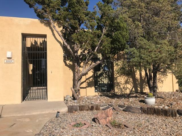 Sweet Mossman townhouse in a super location.  New floors, paint , crown molding are a few of the featues of this well maintained property. Mechanical systems are in very good shape. Fireplace in living room . Patios for outdoor enjoyment. Low maintenance, well maintained yards.