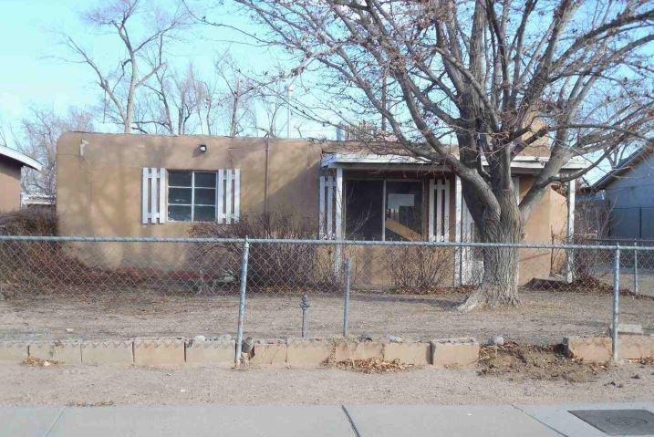 Under contract taking backup offers --Pueblo style single family residence home with 4 bedrooms and two bathroom, located in a city of Albuquerque, NM.  Work is required to make this home move in ready but could be worth the effort.  Whether you decide to customize this home for yourself or rent it out, this house could be a great option.  Property has been deemed unsafe to enter, no interior viewings.