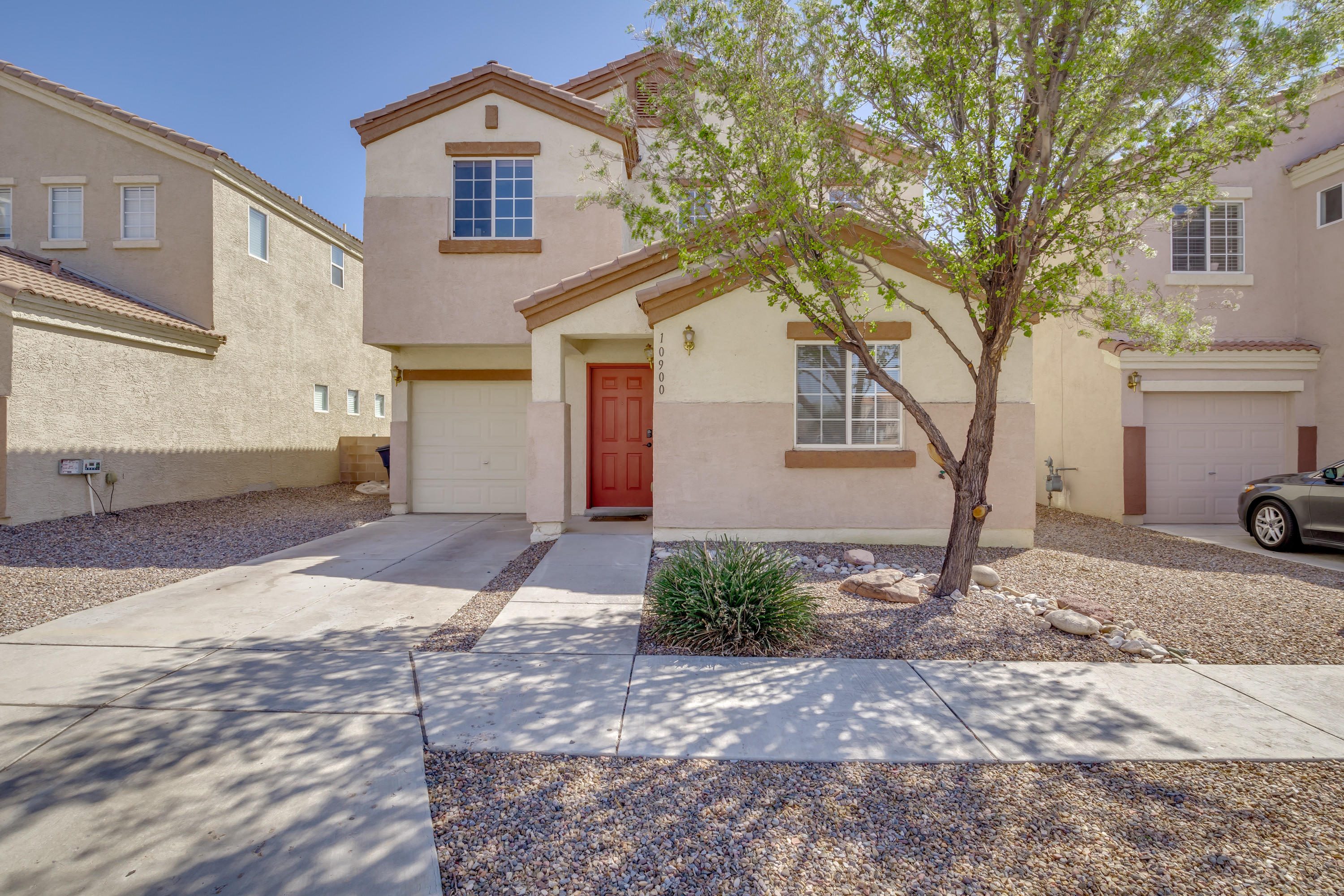 This beautiful 4 bedroom home is nestled in a gated community in the SE Heights. Stainless steel appliances and granite countertops adorn the kitchen. Updated bathrooms. Conveniently located near KAFB, Sandia Labs and shopping.