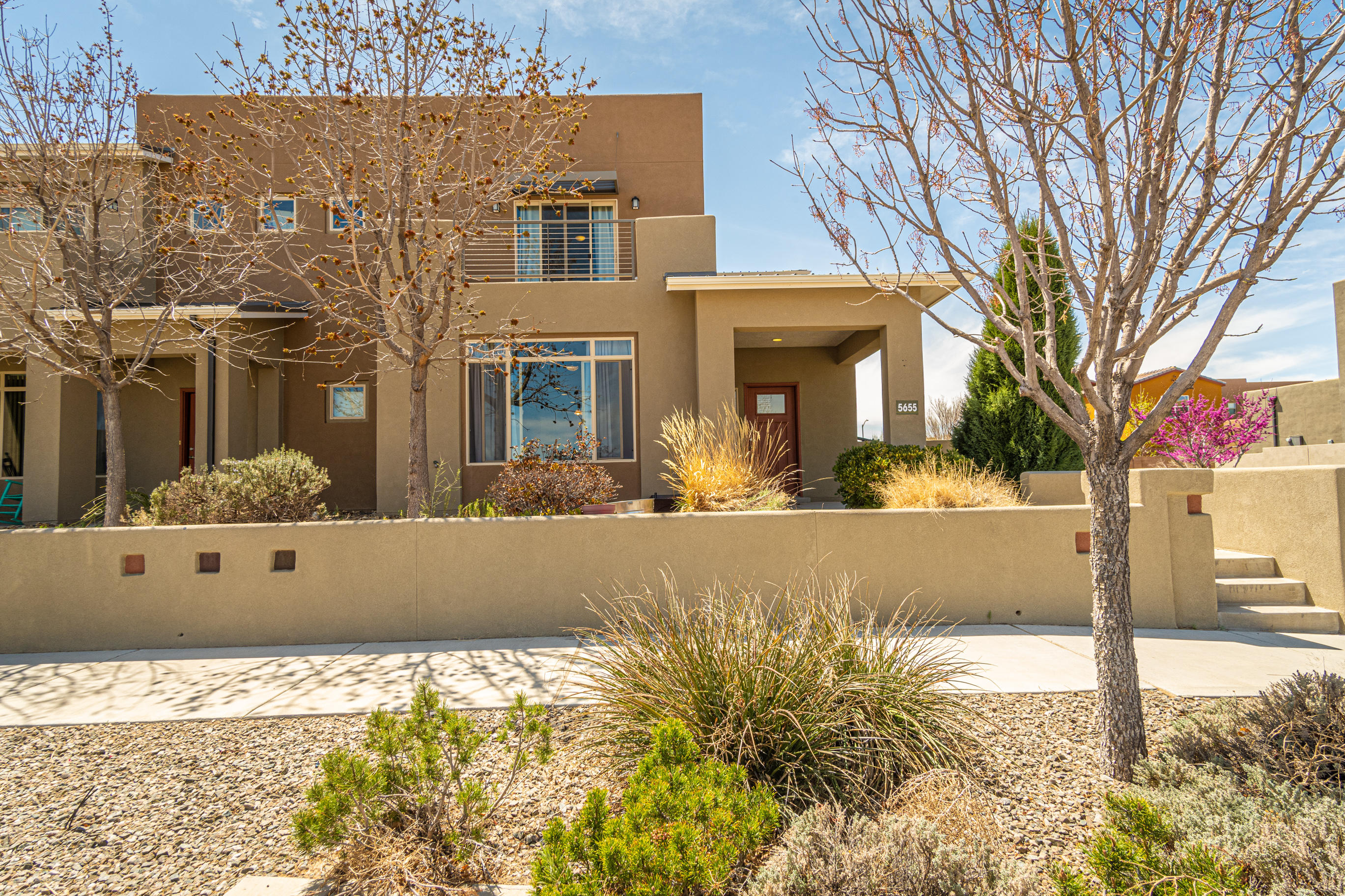 **Under contract taking back up offers. Beautiful, spacious home on a large corner lot in the quiet subdivision of Mesa del Sol! Open floor plan downstairs, enclosed office, and a large owner's suite make this home your perfect retreat. Enjoy a short walk to the community pool, park, & playground, hiking trails around the neighborhood, lunch at The Eatery, or enjoy a drink on your upstairs patio with a lovely view of the Sandia Mountains!