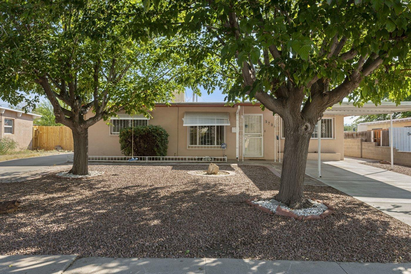 Located in Uptown just minutes from the Coronado Mall, ABQ Uptown and lots of great shopping and restaurants. This 4 bedroom home has 1,862 sqft with 2 living areas. A brand NEW roof and a NEW evaporative cooler installed October 2020. Backyard has covered patio and two large sheds to provide ample storage and workshop space. There's even parking and hookups for your RV.