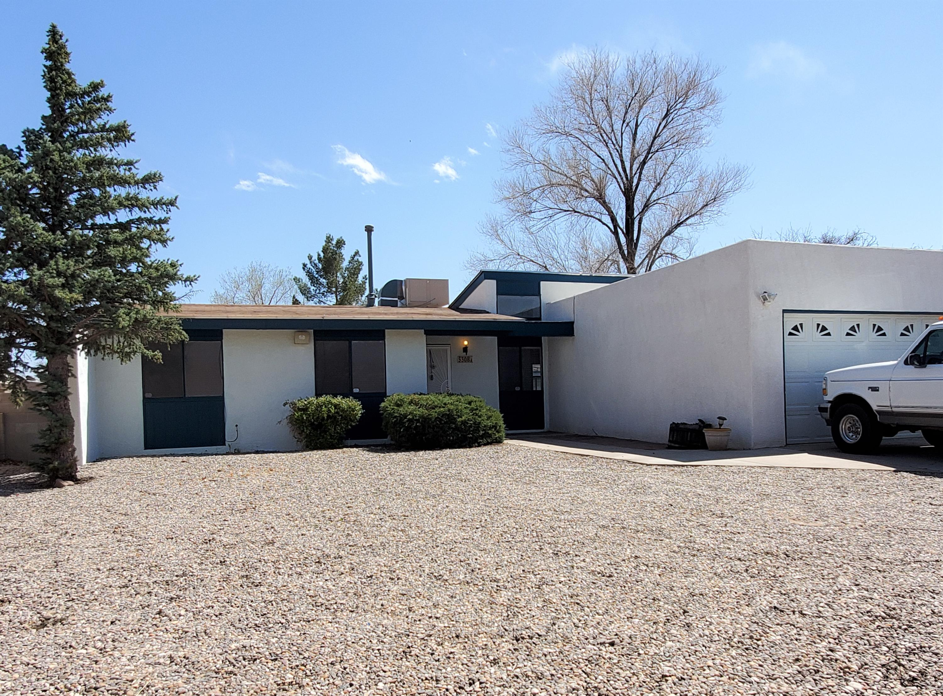 Open House Sun 4-18 (11am-4pm) Taylor Ranch, 1-Story, Estate Sale. 3 bedroom, 2 bathrooms, 2 car finished garage w/220 & multiple bright light fixtures. Open Kitchen with bar. Sunny dining area w/ high ceiling & windows as well as closet enclosing W/D. Family/living room w/ marble inlay mantle above fireplace opens to sunroom. Heater, A/C & Roof less than 5 years old! Large covered patio w/mountain views, gazebo w/brand new cover, large storage shed in backyard.  Large xeriscaped front yard, oversized driveway! Seller is open to appropriate allowances for carpet, paint & backyard landscaping with an acceptable offer or a small price reduction for an AS-Is offer! Seller recommends a home & termite inspection rather than rely on seller's disclosure since they have never lived in the home!