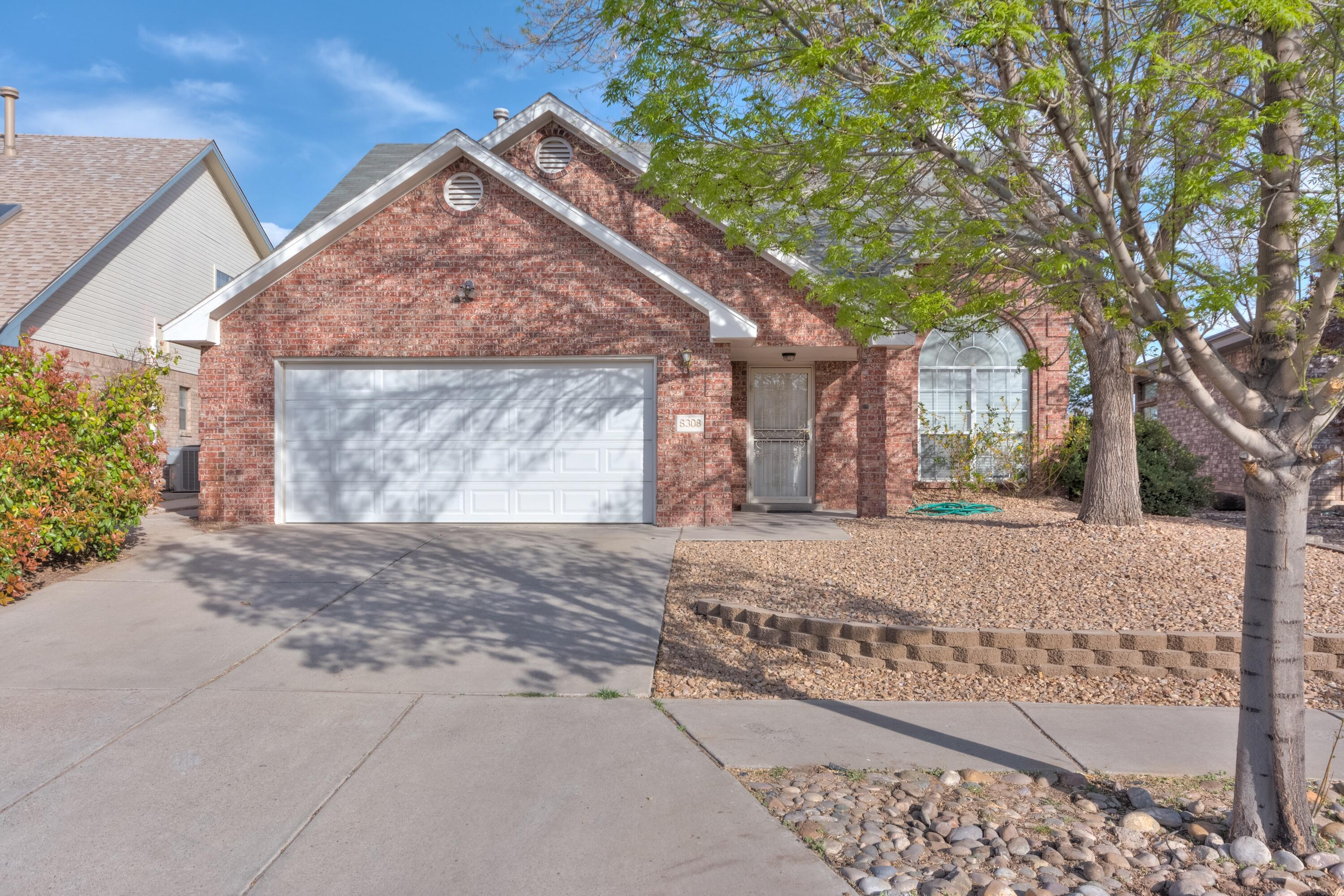 Fantastic 2-story brick home in Taylor Ranch boasts abundant light throughout the flowing floorplan. Downstairs offers neutral tile flooring throughout, gas log fireplace, stainless appliances and owned water softener system.  Upstairs has 2 bedrooms and loft/study space.  The sweet backyard has ample grass and trees, covered patio and deck for enjoying the views.  Convenient location is walking distance to Mariposa Basin Park and close to shopping and dining.  Schedule your showing today and see all the amazing things this home has to offer!