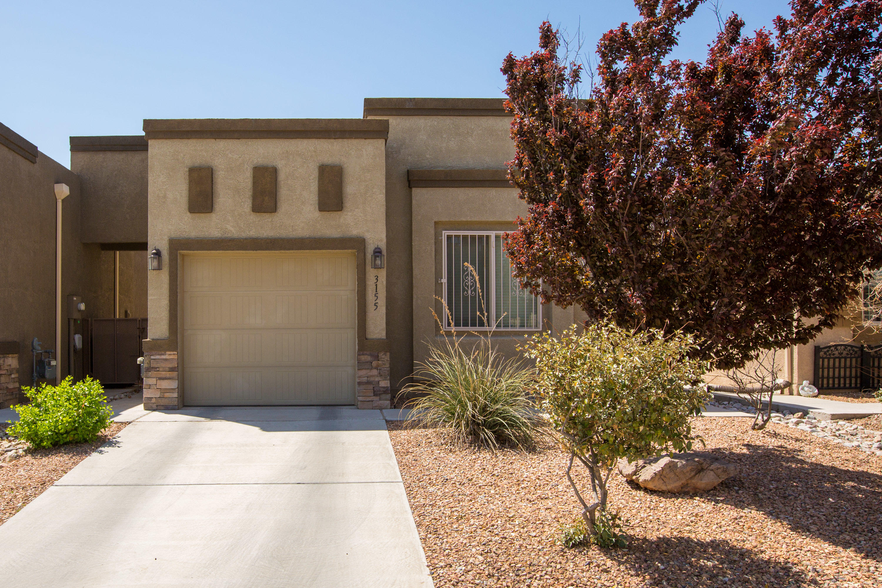 Come view this amazingly cute SW ABQ home in the Sandstone Trails neighborhood.  This one owner DR Horton home comes with a tank less water heater, refrigerated air, as well as all appliances.  This home is as move in ready as you can including a built in deck area in the backyard.  This home won't last long!
