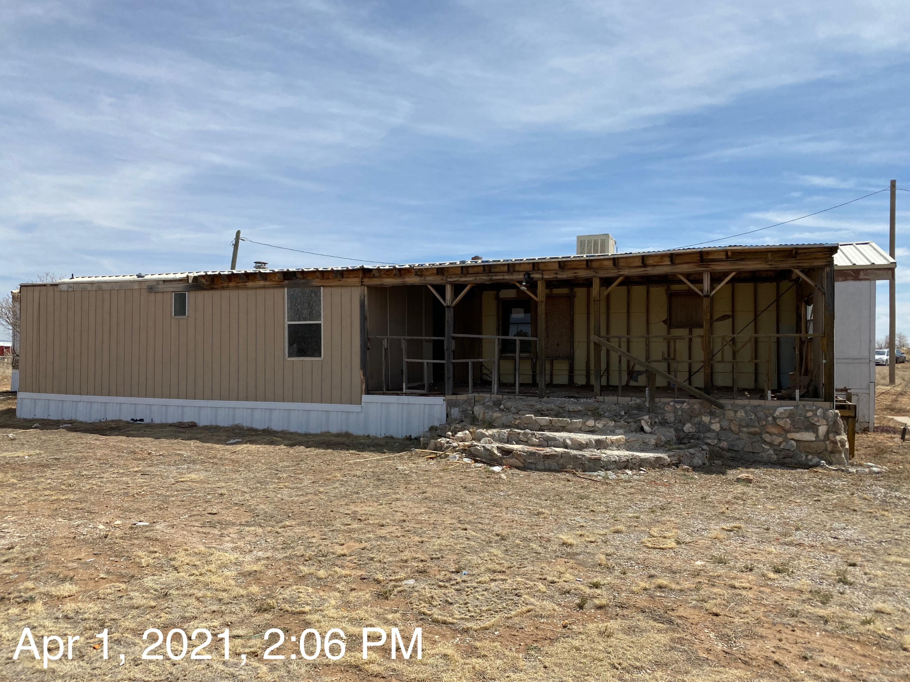 Single Wide is not structurally sound and has holes in the floors, walls & roof. Seller has no info on well or septic. Property sold as is.