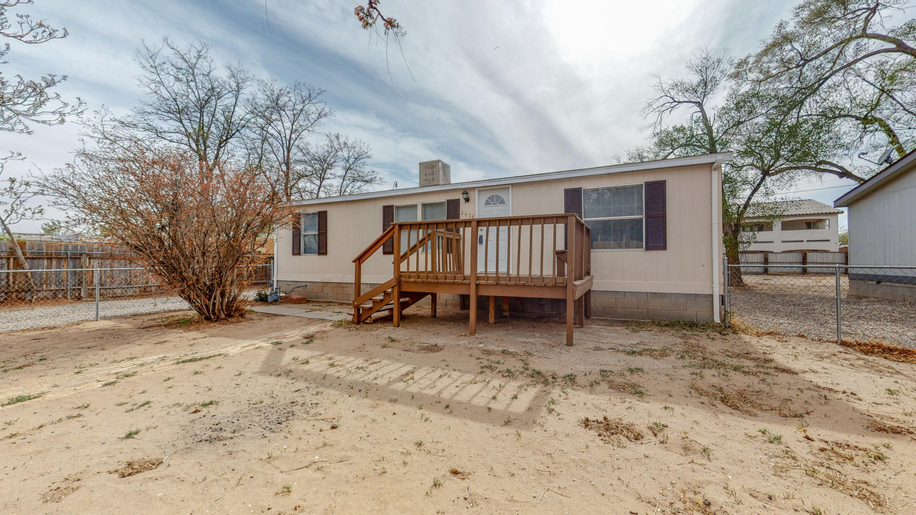Gorgeous manufactured home on permanent foundation, with a great year for entertainment. Appliance convey with the property. Great storage in the back yard.