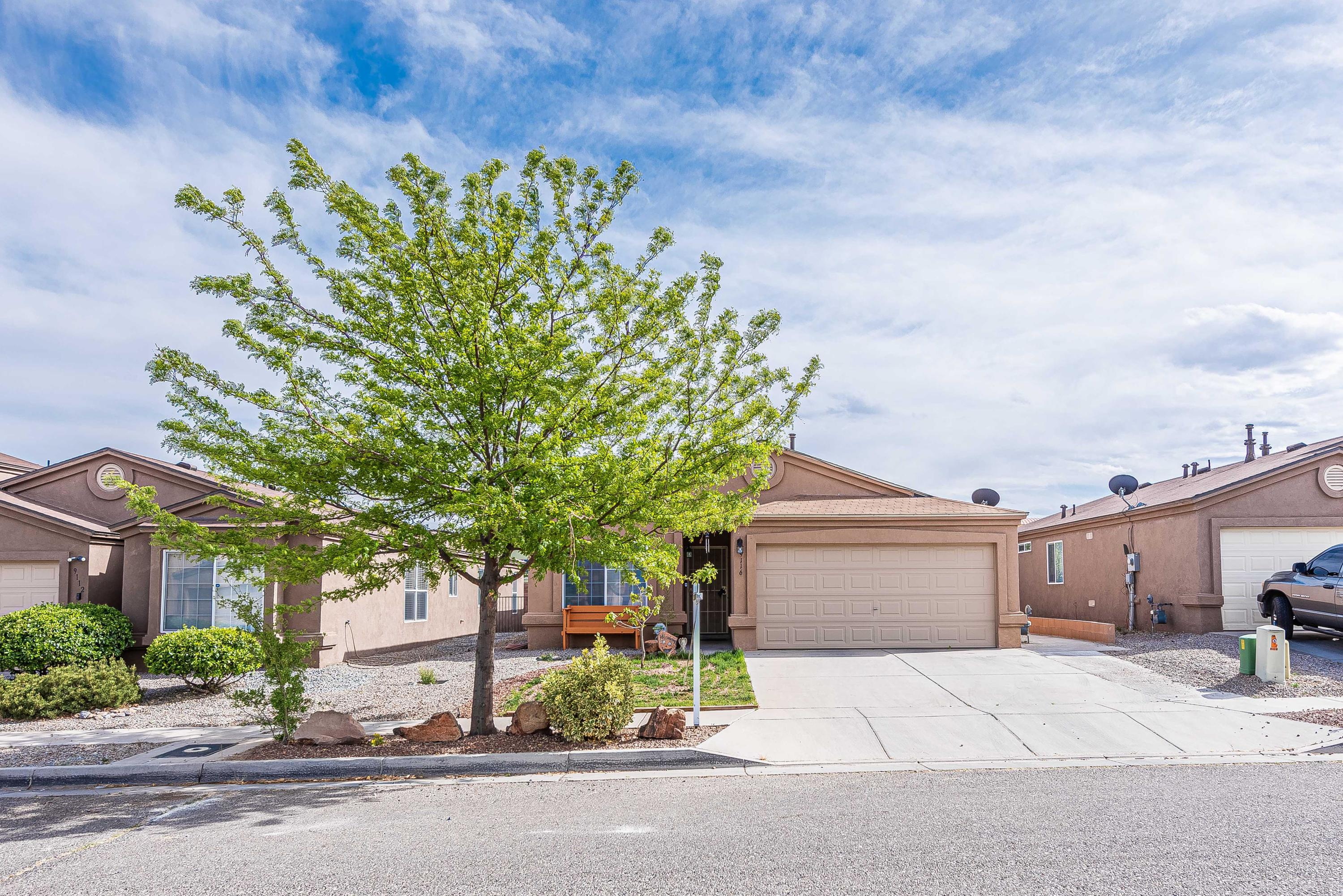 Great three bedroom move-in ready home, granite kitchen and bathroom counters, newer flooring, refrigerated air, relaxing back yard with cover patio and mature fruit trees, schedule your showing ASAP!