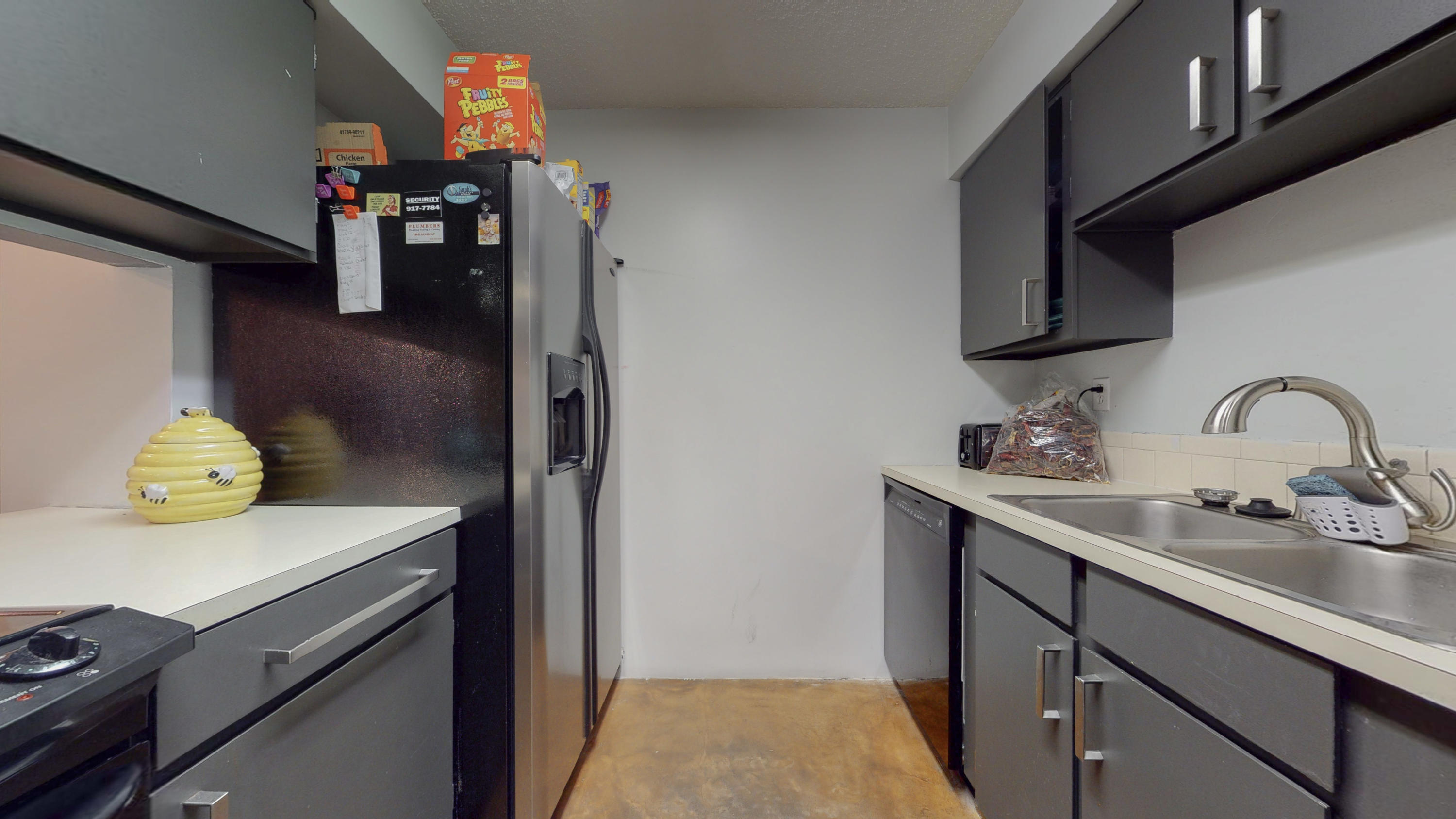 Nicely renovated 2Bedroom, 1 Bath in a NE Heights gated community! Fresh paint. All appliances convey in property. Open space living/dining and kitchen. HOA includes: pool, clubhouse with exercise room and pool table, playground, dog park, security and water. Come make this condo yours today!!