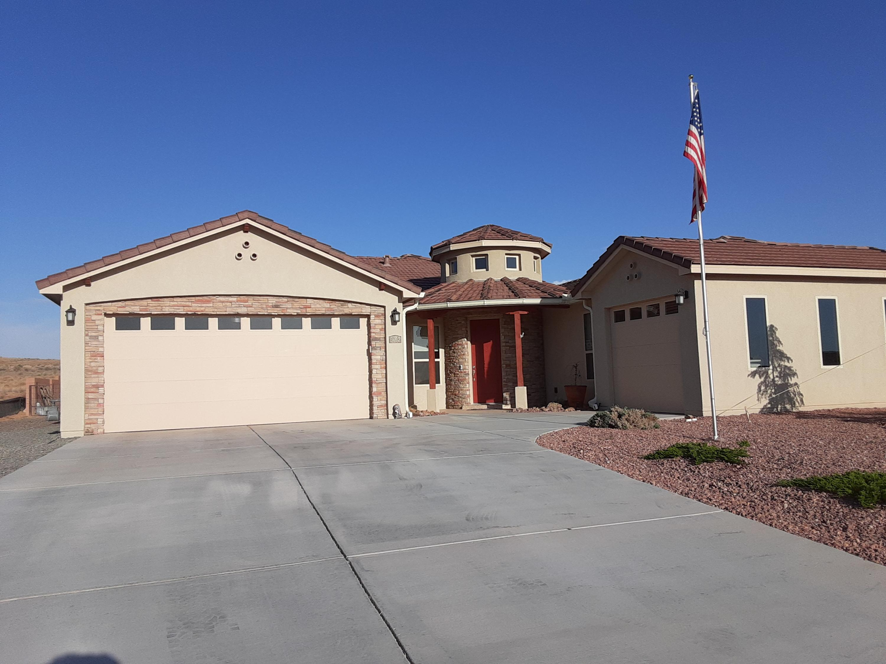 Custom 4 yrs young on half acre, fully landscaped front and back  for your toys, Formal Dinning room,  kitchen eating area with large granite island for gathering, stainless steel appl, large farmer sink,,  Masterbedr., with Jaccuzzi tub and steam shower  many  extras