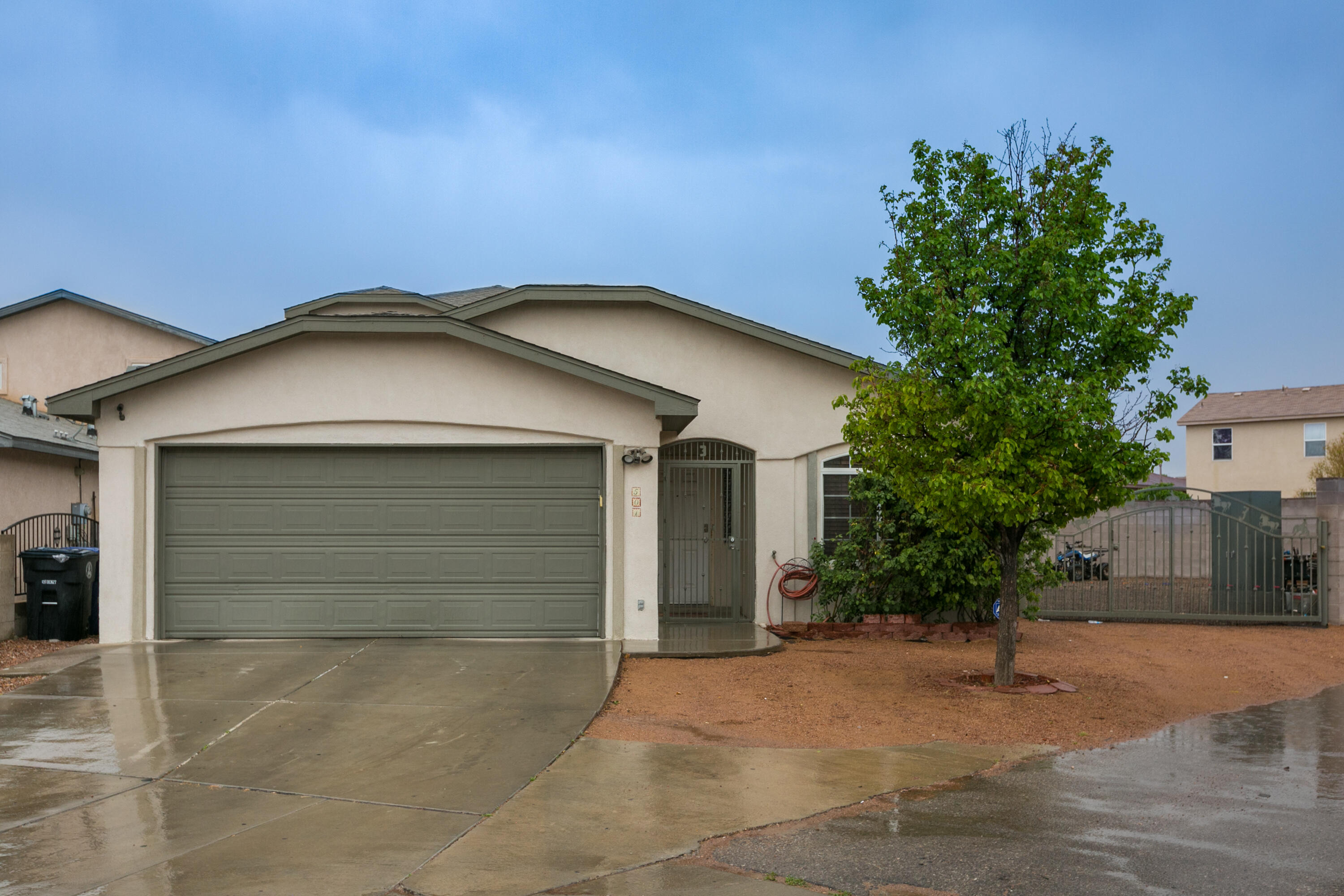Beautiful move-in-ready Fuller home located on a quiet cul-de-sac in the Eldorado Park community. Home features 2,153sf with 4 bedrooms, 2.5 bathroom and a 2 car garage. Great living area with a built-in media center and tile floors. Updated kitchen with refinished white cabinetry, granite countertops, stainless steel gas range, microwave, dishwasher and prep island with seating space. Family dining space right off of the kitchen. Upstairs find the private owners suite with laminate wood floors, a large walk-in closet and bath. Bath hosts his/hers sinks, a relaxing garden tub and walk-in shower. 3 additional guest rooms with space for everyone. Remodeled guest bath with his/hers sinks and a shower/tub combo with custom tile work.  Large covered patio w/ extended pergola & side yard access!