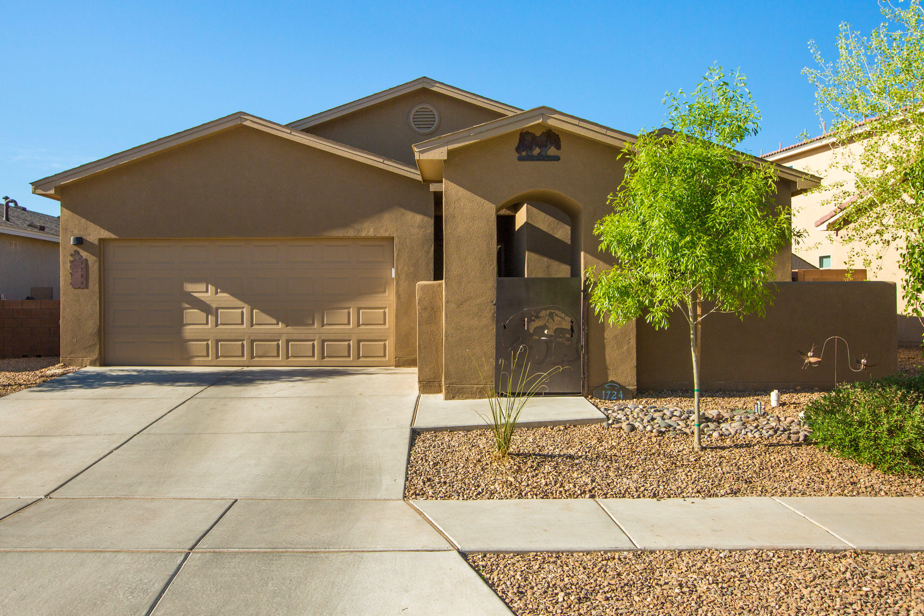 Why wait to build! This newer Twilight  home is nested in the south valley. This lovely home is in a gated community, with easy access to downtown, I-40 and shopping. This home is move in ready, landscaped back yard and much more. A must see!!