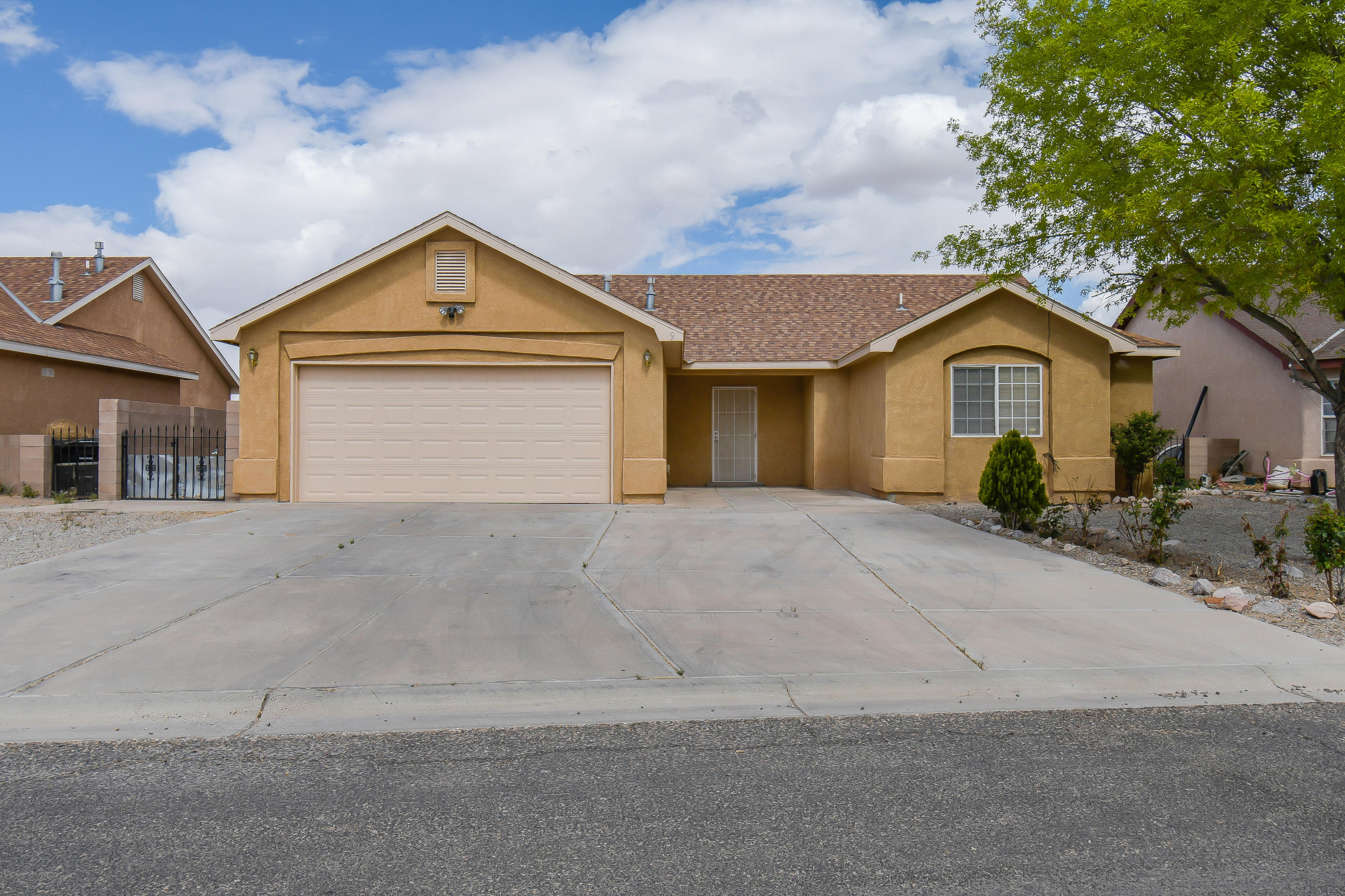 Light and bright home with an open floor plan, 3 bedroom with 2 full baths and large 2 car garage. Enjoy the generous sized backyard with views of the west mesas, fruit trees and a storage unit. Tucked away from the hustle and bustle yet still close to all the daily amenities. Come see this great home for yourself!