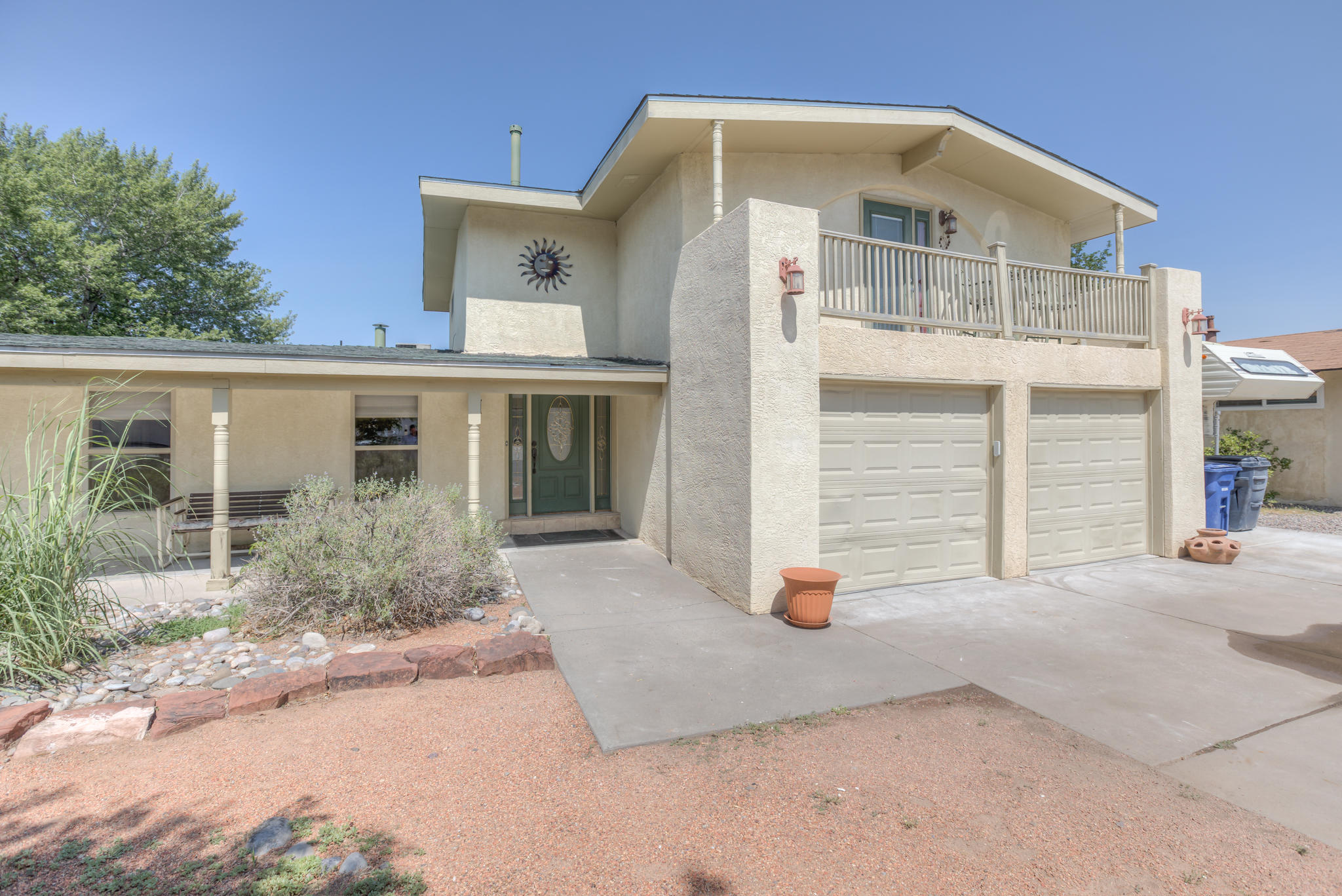 With a little TLC, this could be a Gem! Two Master Bedrooms, both with walk-in closets, MBR (20x9) on second floor and one MBR (19x14.5) main floor. Main floor large Master Bath w/beautiful snail shower. Upstairs MBR w/balcony. Two living areas. Main floor living room and additional sitting room or second living space leads you to the Kitchen. Lots of counter space, pantry, built in desk, and bar area, will surly bring out your inner chef. Main floor office or possible additional bedroom.  Two heating and cooling units and a new roof, replaced in April 2021. The large back yard is perfect for those summer parties with all your friends. Plenty of room for all your toys, with two driveway RV pads both on north and south side of the home. Plus backyard access possible.