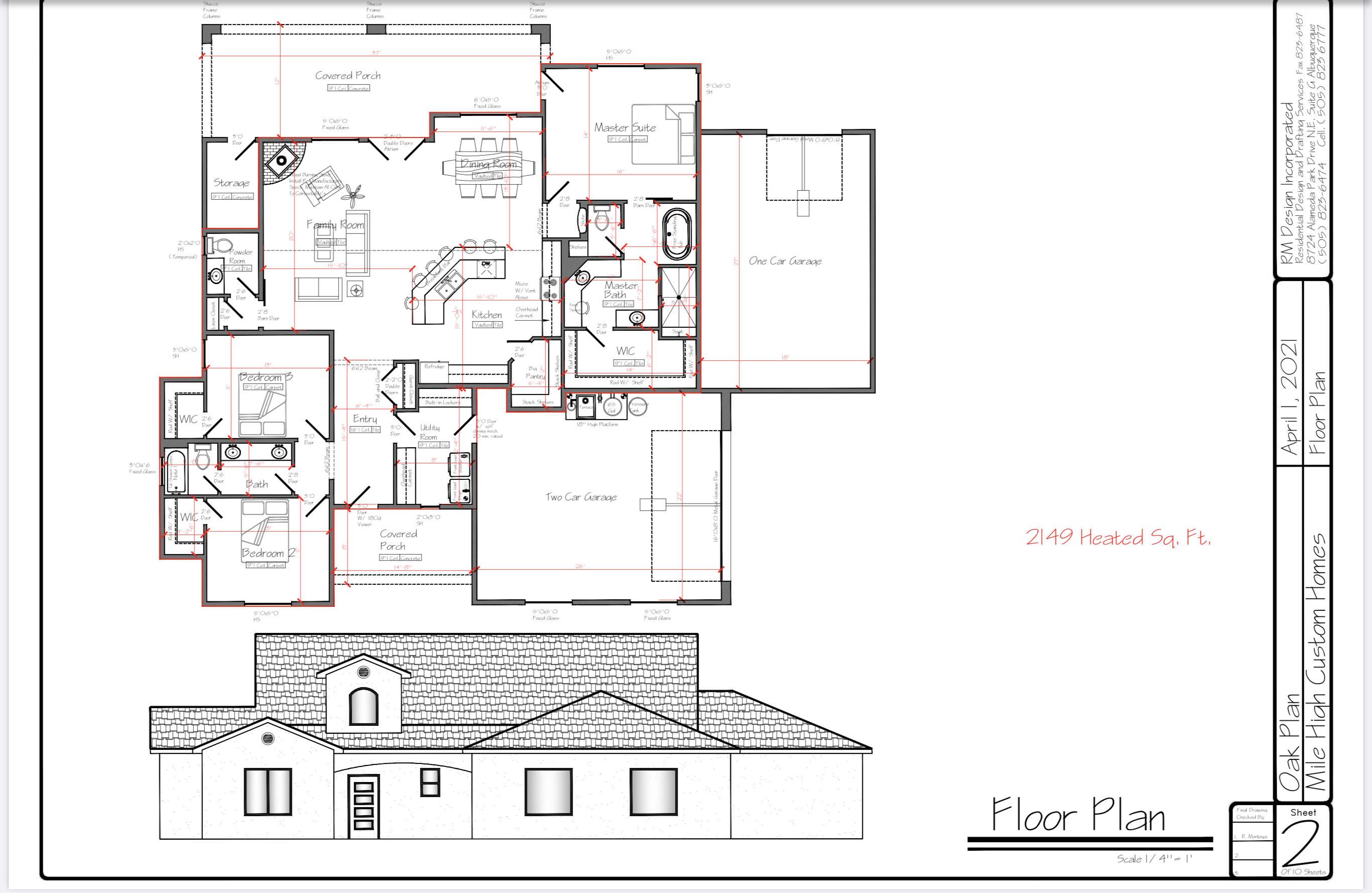 Custom built home Oak Floorplan. 3 Bedroom 2 1/2 bath with many custom features including Oversized 2/1 (3) car pull through garage.