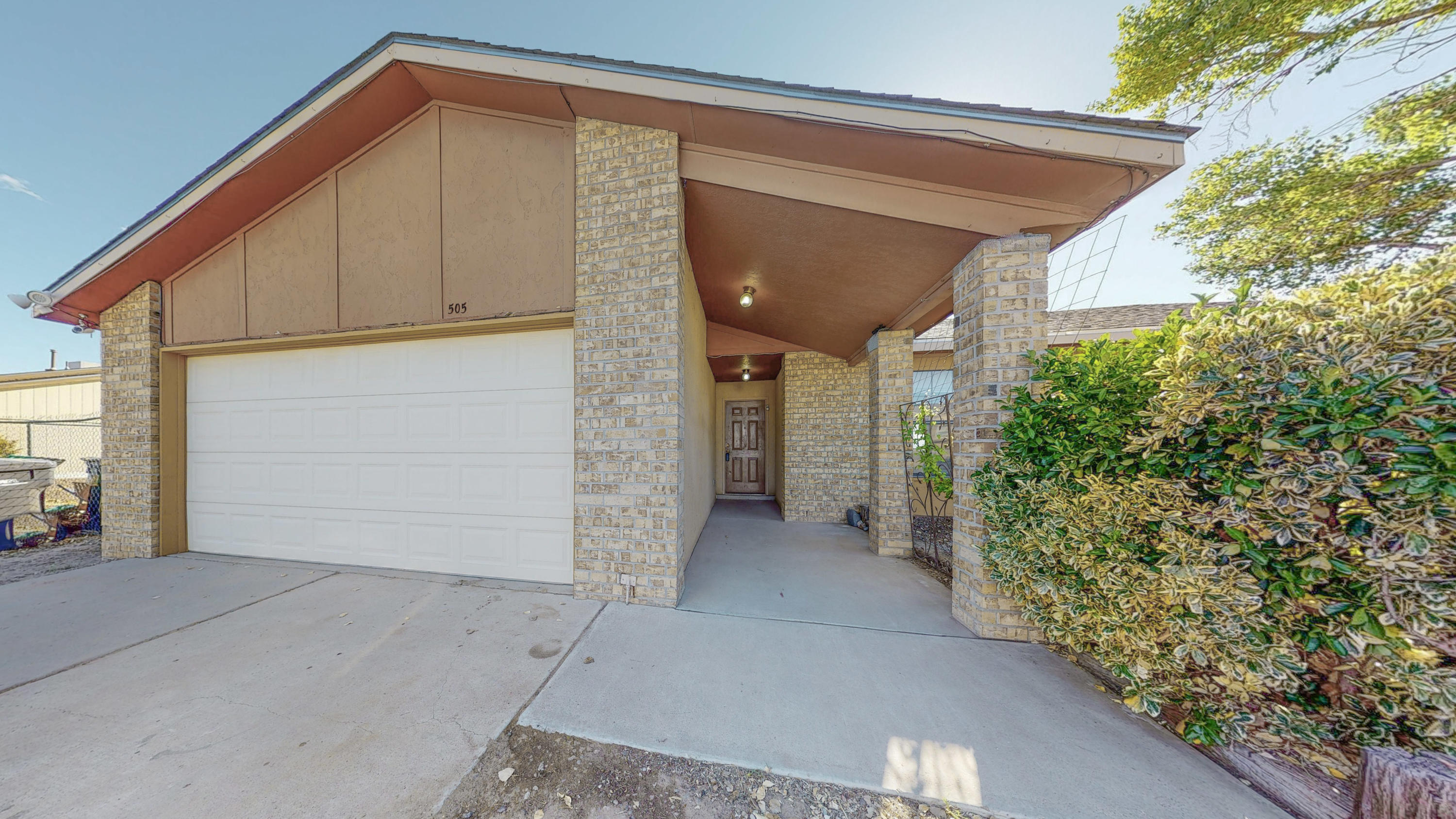 Great location in central Rio Rancho! Freshly painted with new carpet in main living areas and bedrooms.  Beautiful water proof vinyl flooring in kitchen and bathrooms.  Wood burning fireplace in living room.  Lots of storage throughout.  Open kitchen with space for dining and  bonus storage pantry.  Newer roof installed 5 years ago along with evaporative cooler. Polybutylene pipes have been replaced. Big backyard is a blank canvas. Check out this great place to call home!