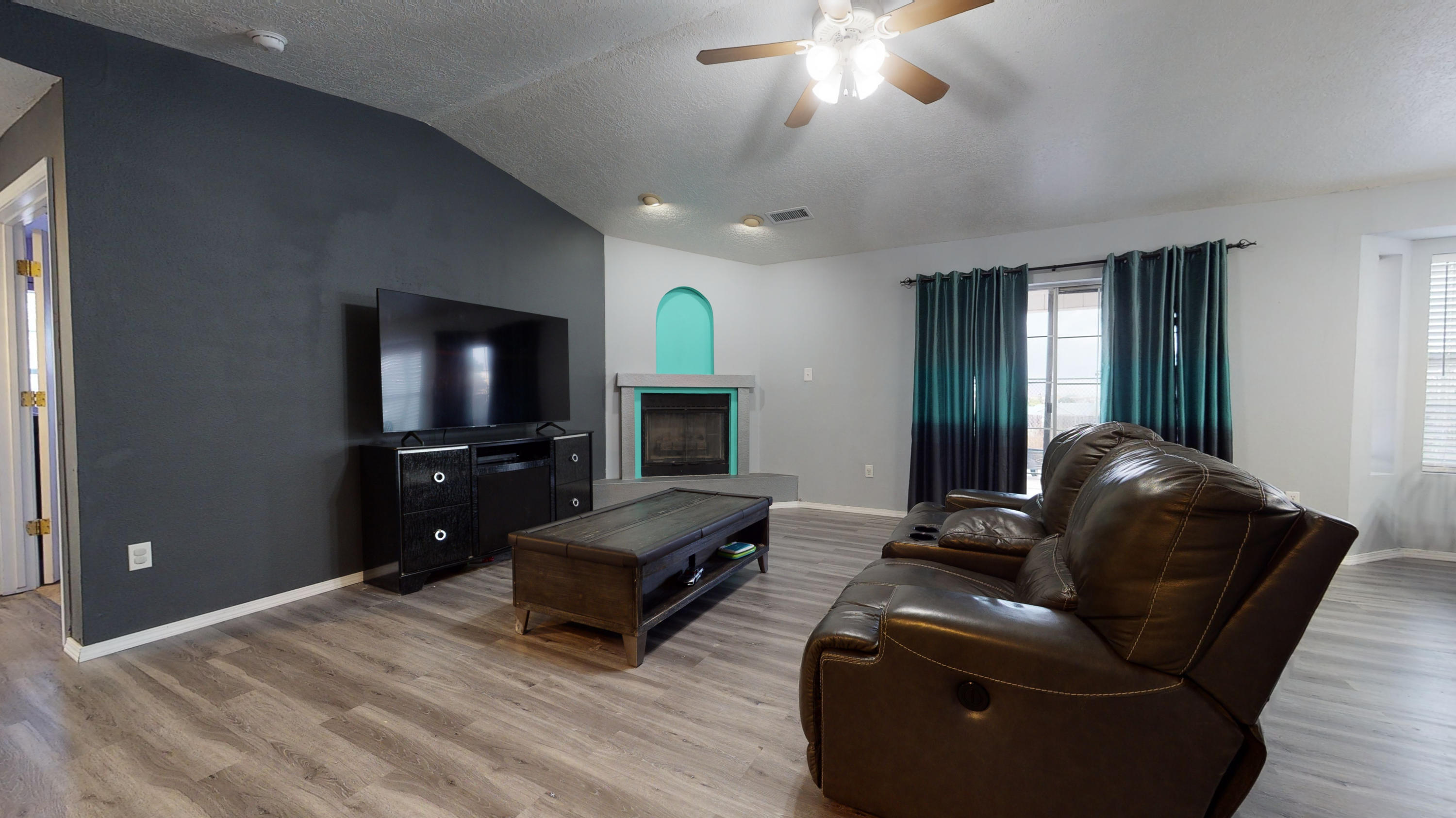 Great Starter home. Corner lot, 3 bedroom, 2 bath home. Custom paint throughout the home. Updated contemporary light fixtures. Updated bathroom, granite countertops. Very large backyard...use your imagination on all the possibilities.