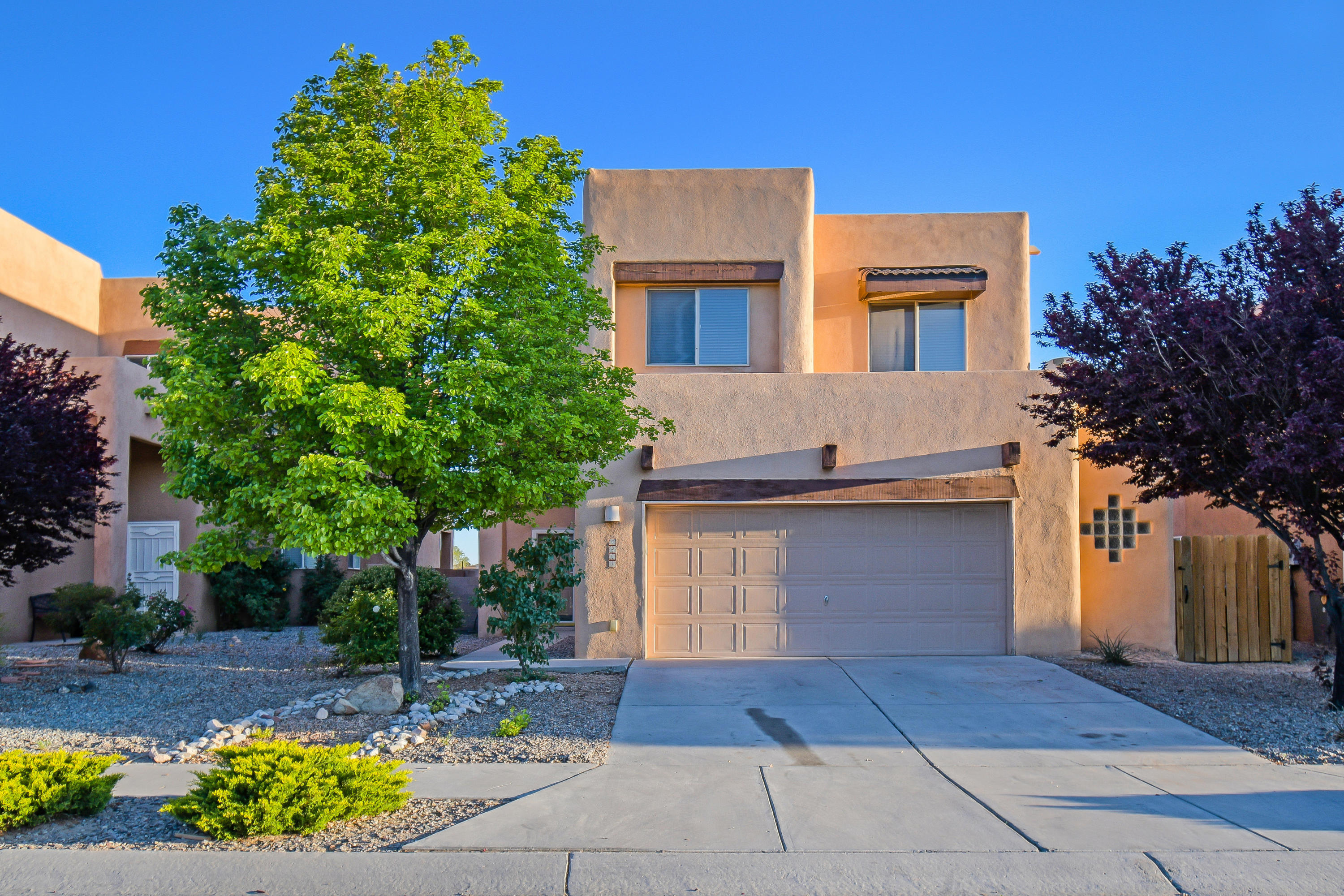 1st Showings are Friday at Noon. Open House, Saturday 5/8 from 11 am - 2 pm!  Welcome to Adobe-style Fuller Homes in Paradise Hills! This Three bedroom home with bonus loft space features an open floor plan with close access to Paradise Hills Park. Beautiful wood laminate flooring! Spacious Master suite with private balcony! Spa-like Master Bathroom with soaking tub, separate shower, and large walk-in closet!  Covered Patio outback, storage shed, and room to make it into your very own backyard retreat! Spacious Garage with room for extra storage or workshop area. Take a virtual walkthrough tour today or schedule a private showing!