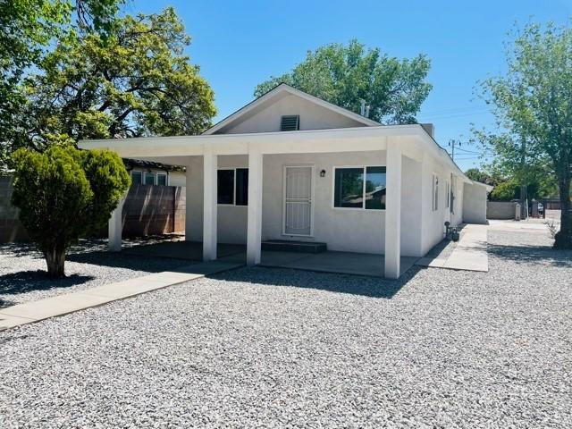 Newly remodeled 2 BR 1 Bath home plus 2 BR 1 Bath unit. Brand new water line throughout home and unit. (2021) New roof, stucco, water heater, furnace, and evaporative coolers. (2021) New kitchen cabinets with granite countertops and new appliances. New windows and New tile flooring (2021)Excellent location - walking distance to Abq Zoo, Downtown, Old town, Tingley park and Tingley beach!