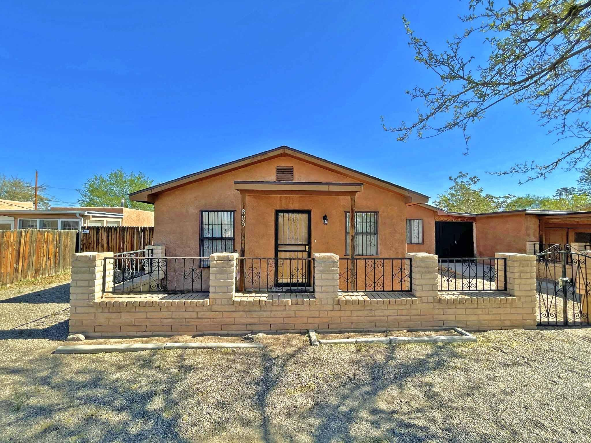 Check out this North Valley home!  New HVAC with refrigerated air and new roof installed about 5 years ago!  Large Master bedroom with large full bath.  Large kitchen.  Backyard access for RV.  Circular drive and courtyard in front.  All fixtures work.  Being sold as is.  This one won't last so come check it out!