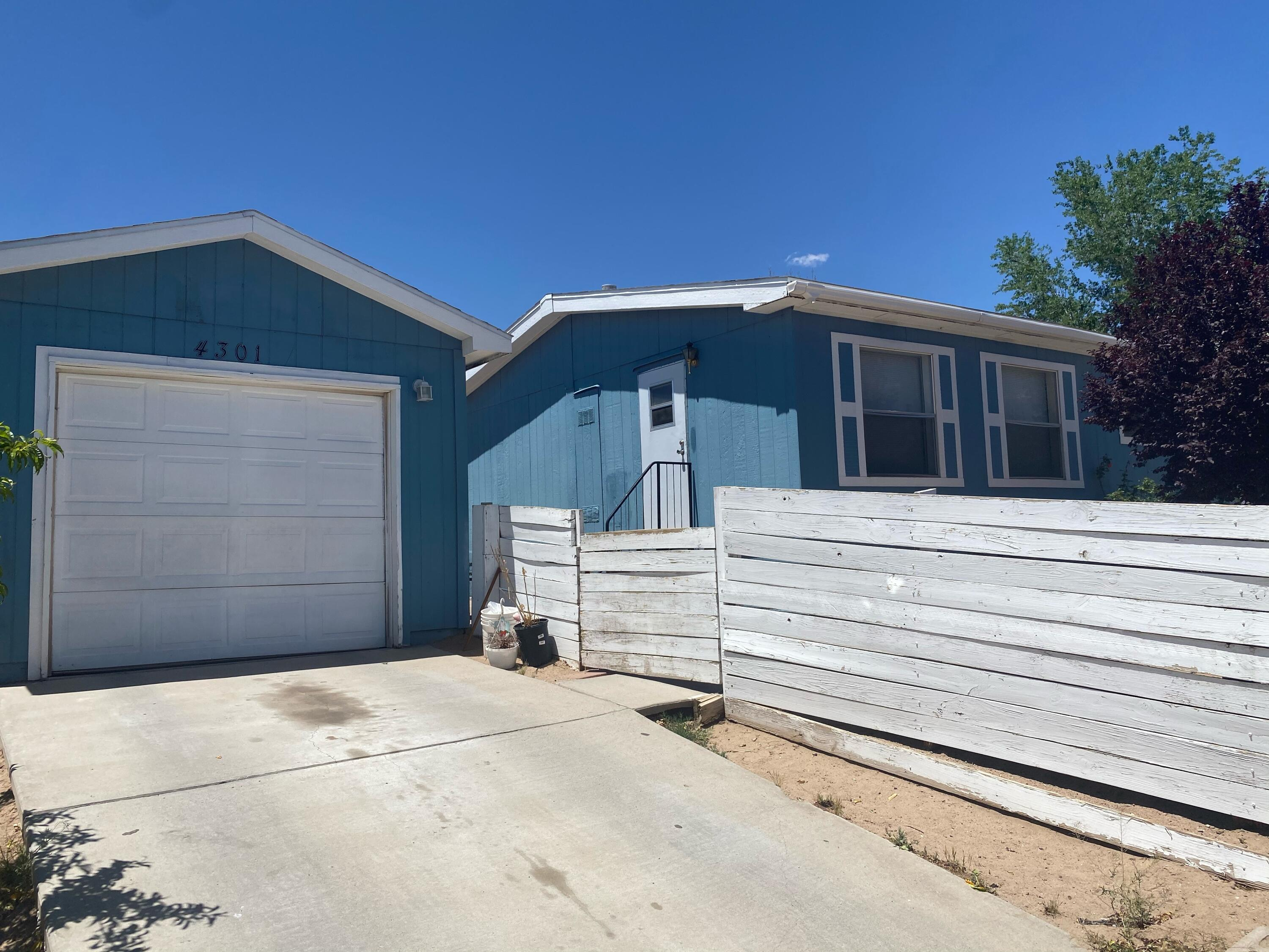 SELLING AS IS!!! FHA eligible. Property is in the process of getting a new roof. Property is in livable condition. This will go quick! It is on a permanent foundation with a deactivated title. Please call Leo 505-301-1292 if you have questions.