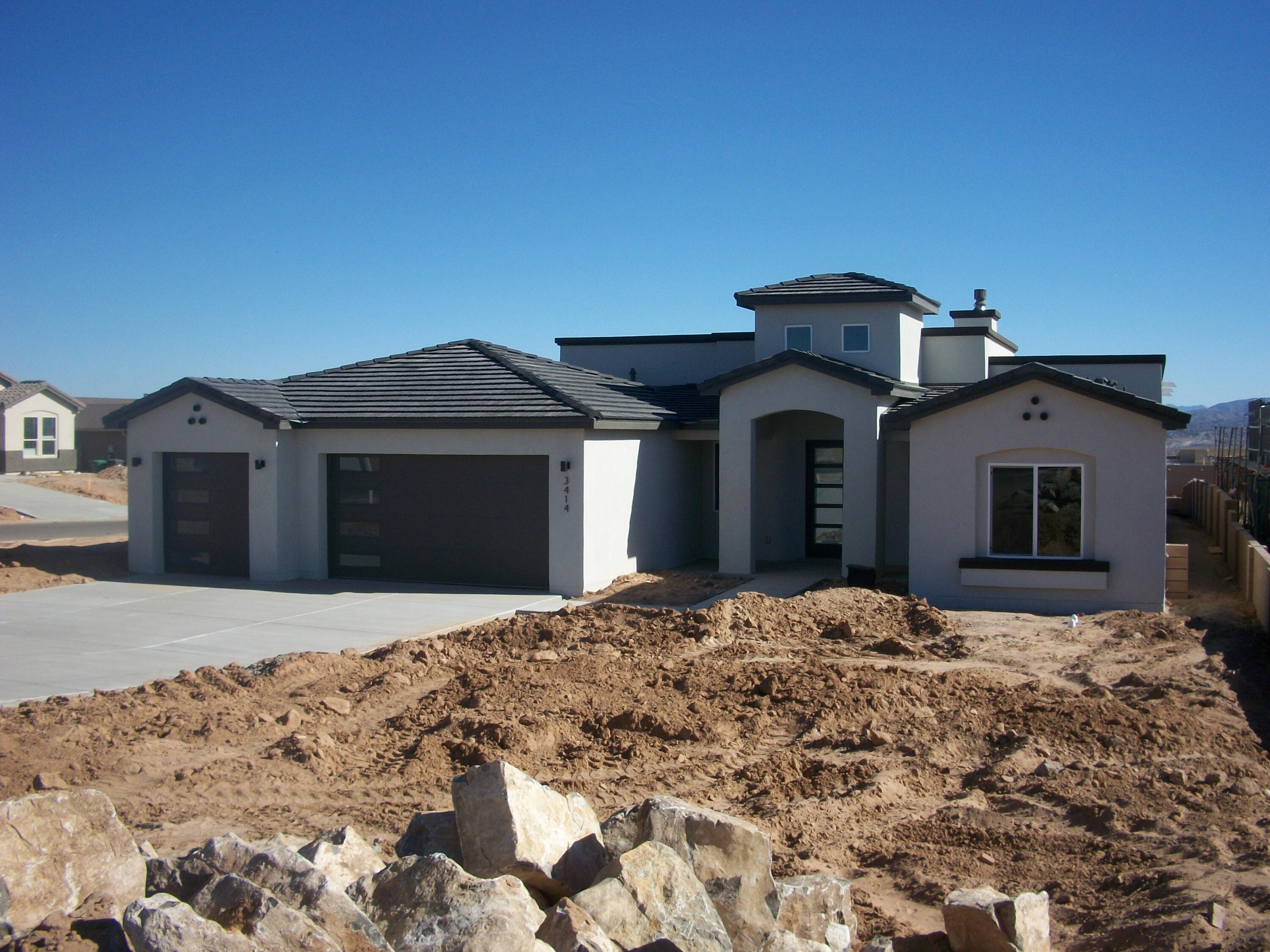 2021 Spring Parade of Homes ,  multiple award winner, Quality Builders bring another custom home to Vista Entrada. This 4 bedroom 3 bathroom 3 car garage home sits on a corner 1/2 acre lot. Views of the Sandia mountains from the back of the home. This home is under construction. Cabinets are being installed this week. 3 CM Frost Quartz will be installed on all counter tops including laundry room. 5 foot tall block wall will be installed with a gate for backyard access. Front yard will be landscaped with drip system. Int. and Ext door, Appliance, Cabinet info attached to listing. This is a tremendous value. Come see, then make this the next place you call home. Quality Builder ''A Higher Degree of Excellence''.