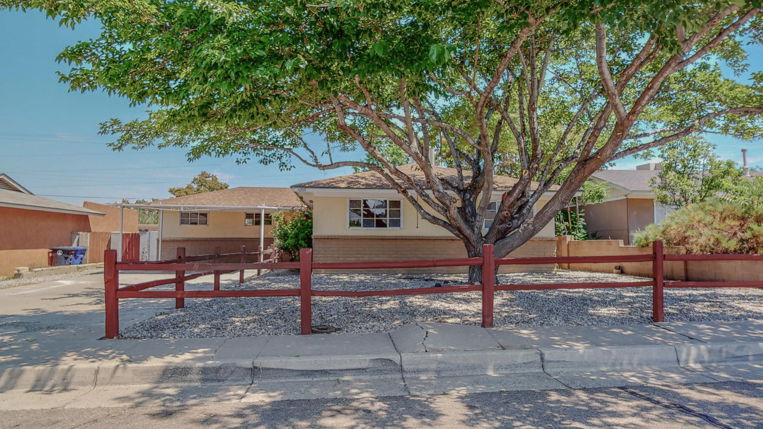 This beautiful home is located in the heart of Albuquerque.  This home boasts 3 bedrooms with an addition that can be used for a 4th bedroom, office, or additional living room.  This home has hard flooring throughout and has been freshly painted and updated.  This home will not last long!