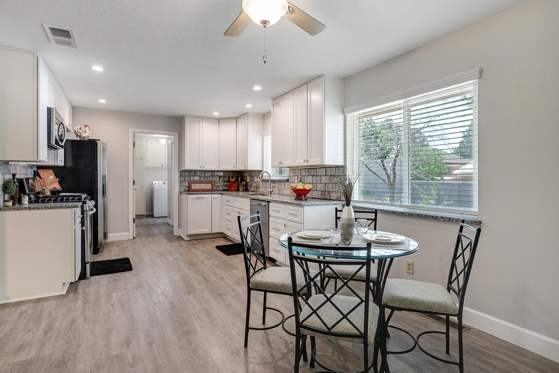 OPEN HOUSES:SATURDAY JUNE 12TH 2PM-4PMSUNDAY JUNE 13TH 2PM-4PMThis updated & stunning home located in Monterey Manor... a gorgeous and mature neighborhood in the NE Heights is a must see! Convenient access to Sandia Base, Interstate 40, Uptown, Shopping, Malls, Dining, UNM, UNM Hospital, Lovelace,  Presbyterian Hospital & local schools, take a peek at the Sandia Mountains.... It boasts FOUR large bedrooms. 3 picture perfect bathrooms, two living areas, beautifully redone kitchen, high end cabinetry... refrigerated air, redone windows, floors, new paint throughout & and has a very very nicely sized lot... Come see it before its gone!