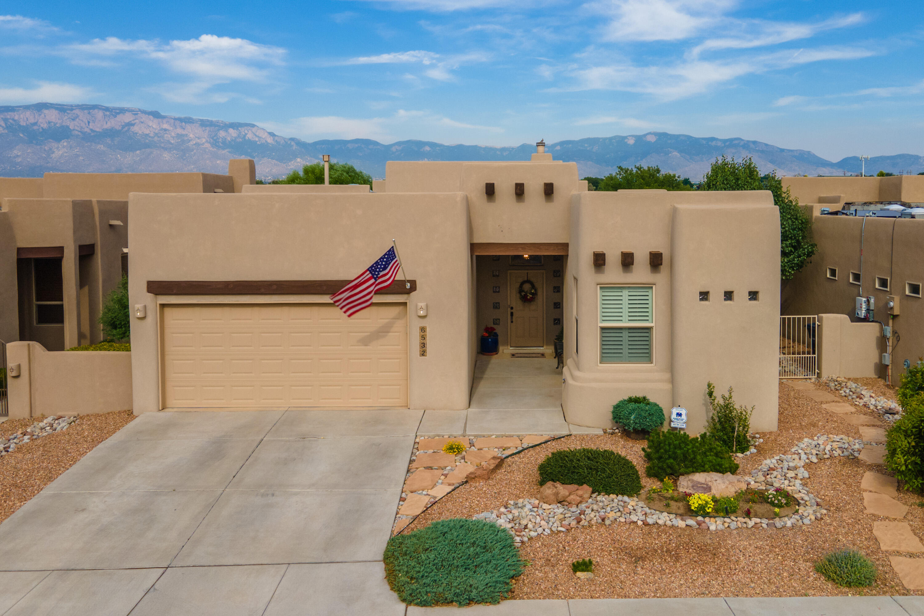 Open House this weekend Saturday (11:00 am to 3:00 pm) and Sunday (12:00 pm to 4:00 pm). Beautiful 3 bedroom, 2 bath home in gated community in Vista Del Norte.  High ceilings in den/great room. Gas log/wood burning kiva fireplace. Beautiful kitchen with large pantry. Master bedroom separate from other bedrooms.  Jacuzzi tub in master bathroom, double sinks. Laundry room with built in cabinets. Washer and dryer are negotiable. Enlarged covered patio, professional landscaping, easy maintenance lawn. Refrigerated air. Backyard Mountain Views. Water feature. Soccer park/playground across the street.